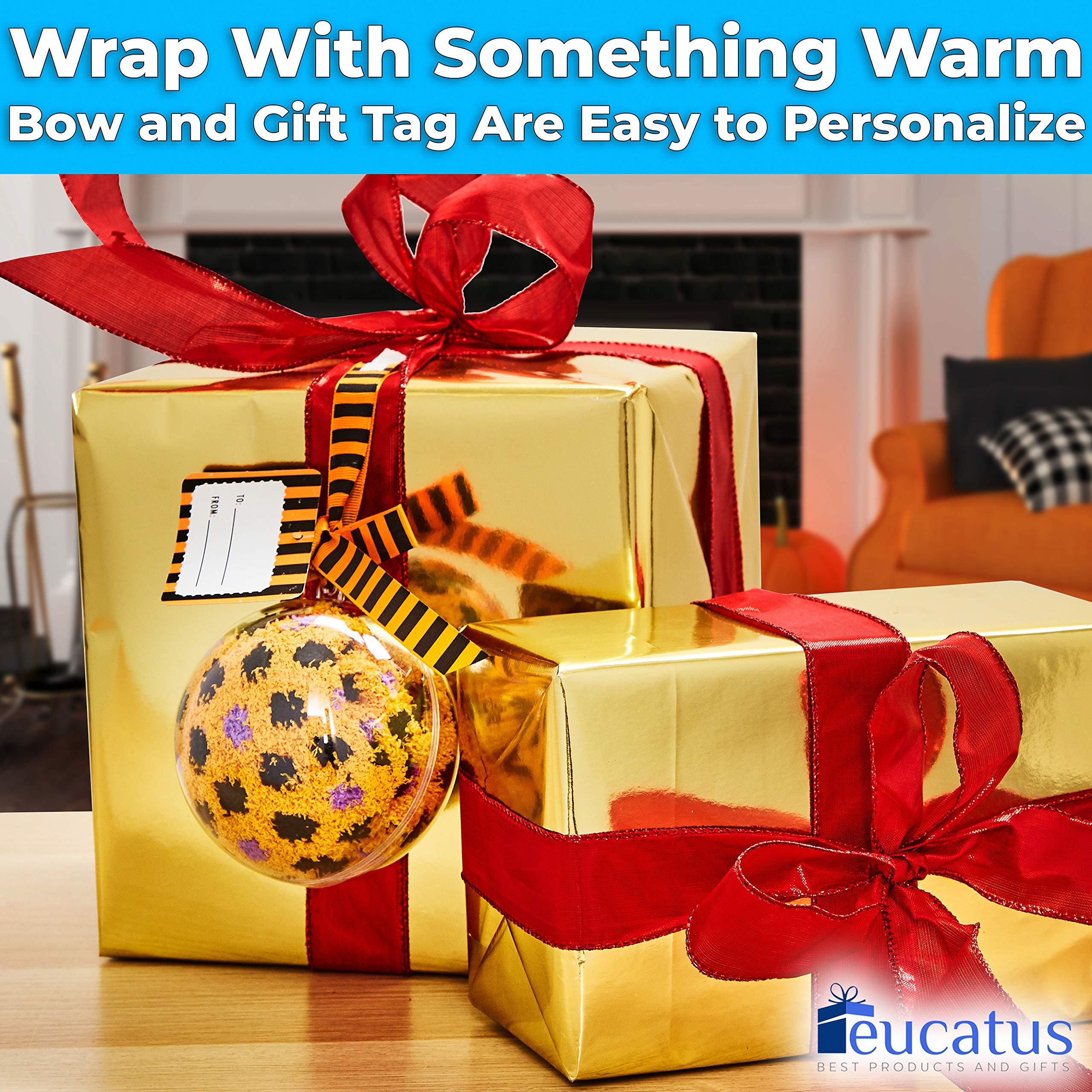 miniature 12 - Super Soft, Fuzzy Halloween Spa Socks in Gift Ornament, Womens Size 6-10