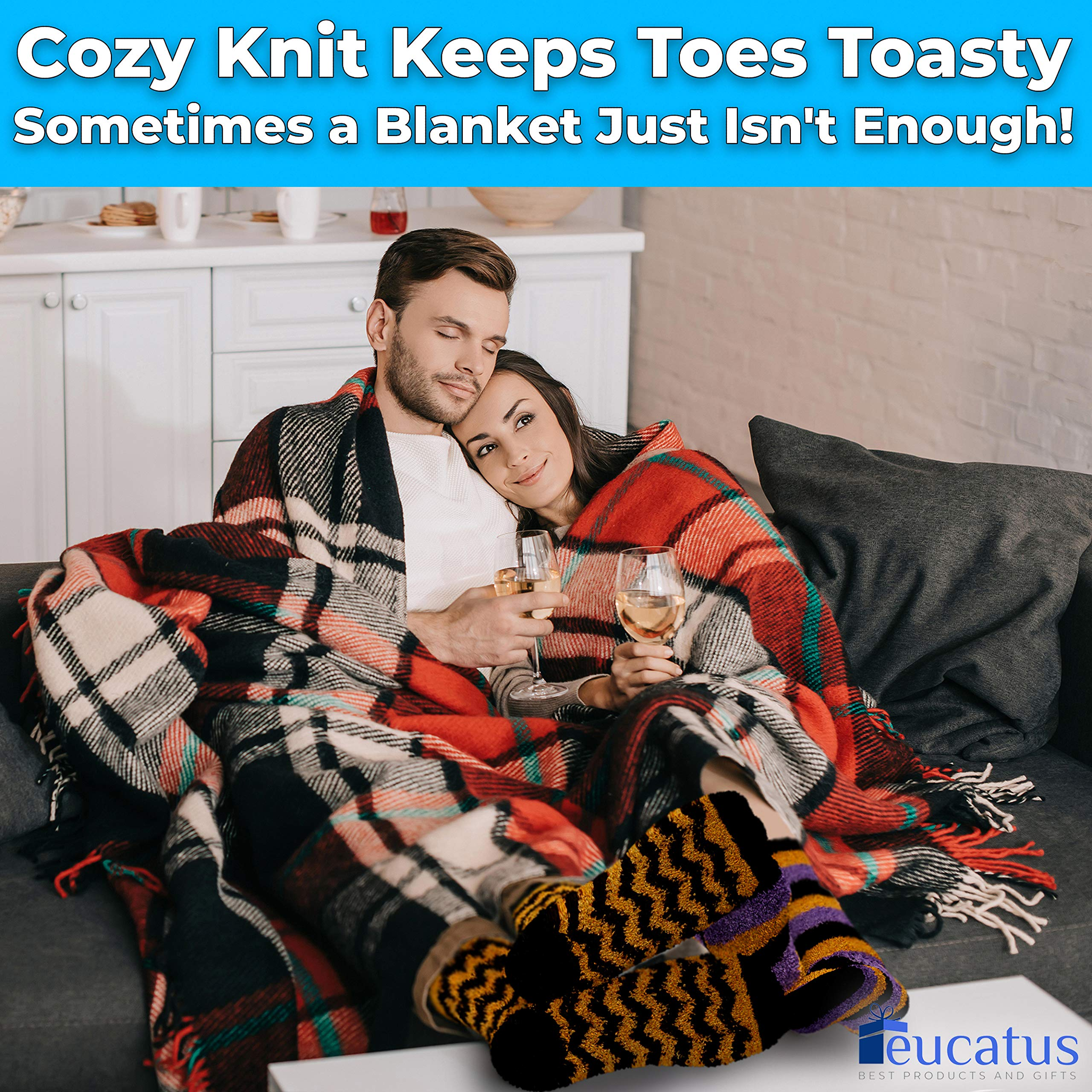 miniature 15 - Super Soft, Fuzzy Halloween Spa Socks in Gift Ornament, Womens Size 6-10
