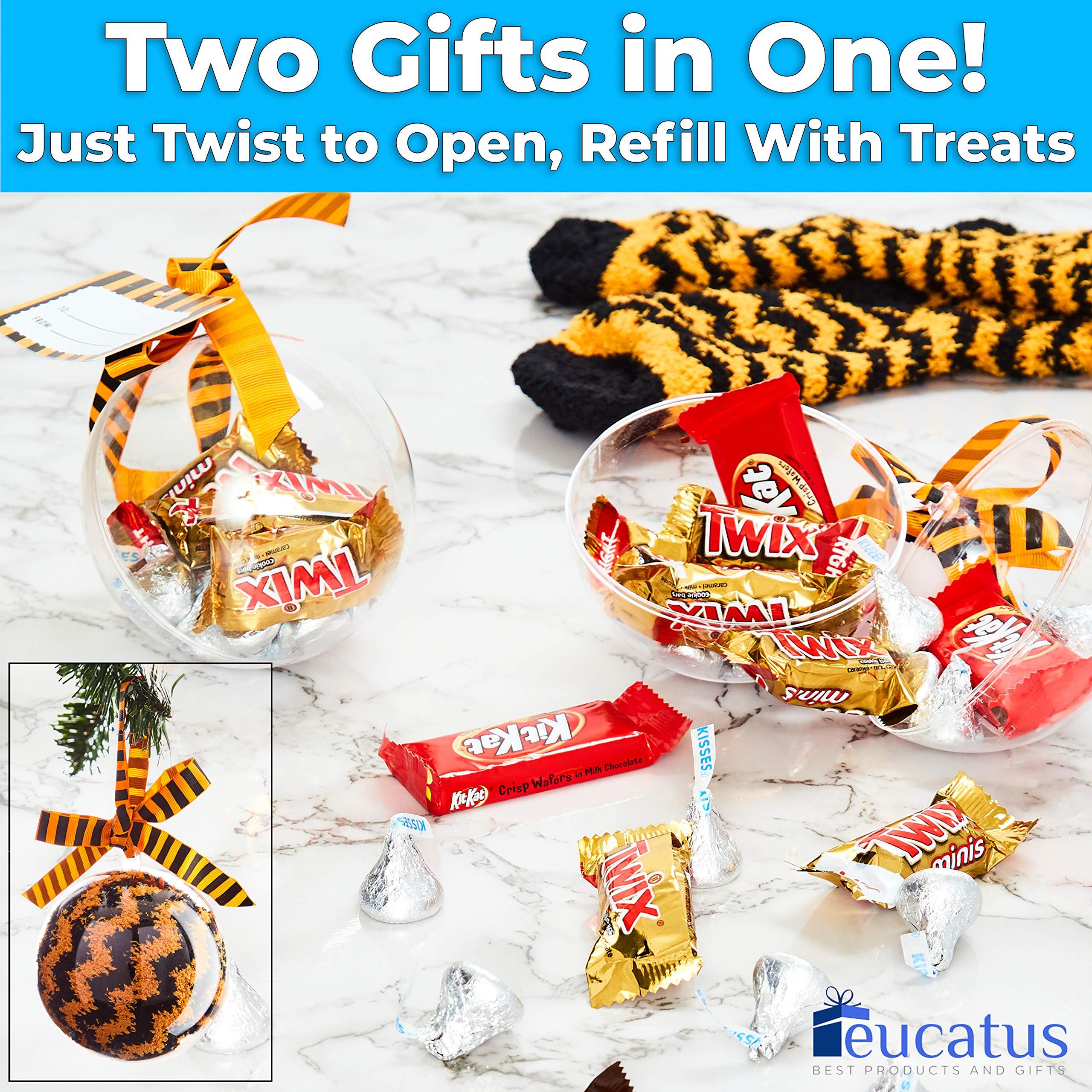 miniature 14 - Super Soft, Fuzzy Halloween Spa Socks in Gift Ornament, Womens Size 6-10