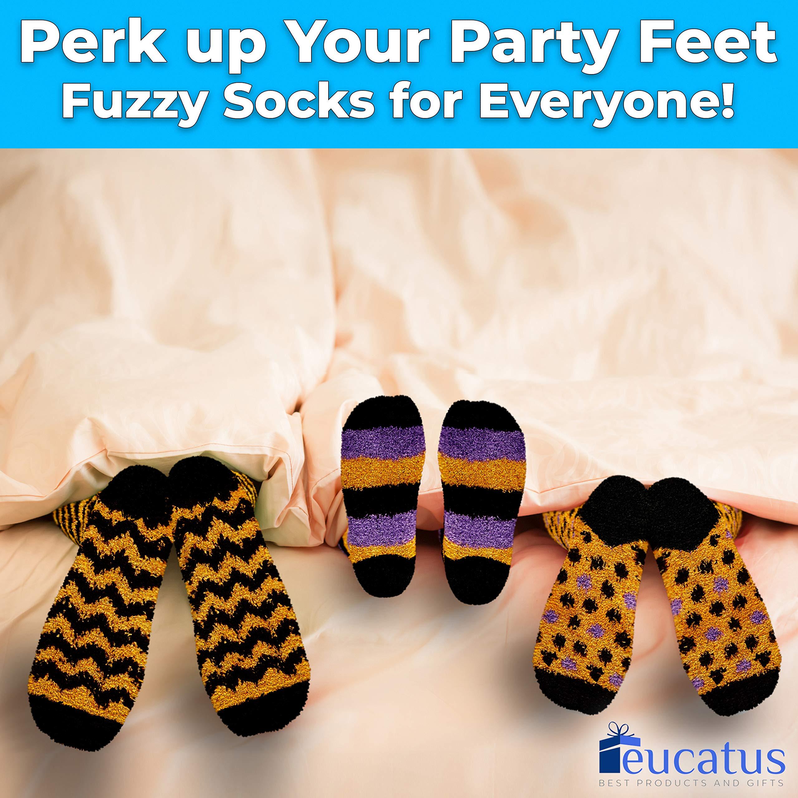 miniature 25 - Super Soft, Fuzzy Halloween Spa Socks in Gift Ornament, Womens Size 6-10