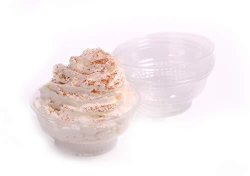 miniature 8 - 5 Oz Stackable Plastic Ice Cream Dessert Cups W/Taster Spoons by Avant Grub