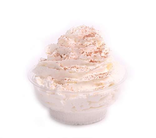 miniature 9 - 5 Oz Stackable Plastic Ice Cream Dessert Cups W/Taster Spoons by Avant Grub