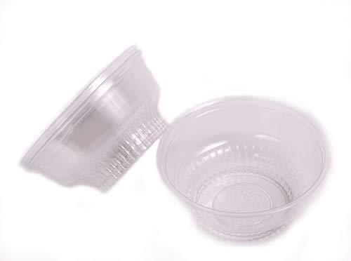 miniature 13 - 5 Oz Stackable Plastic Ice Cream Dessert Cups W/Taster Spoons by Avant Grub