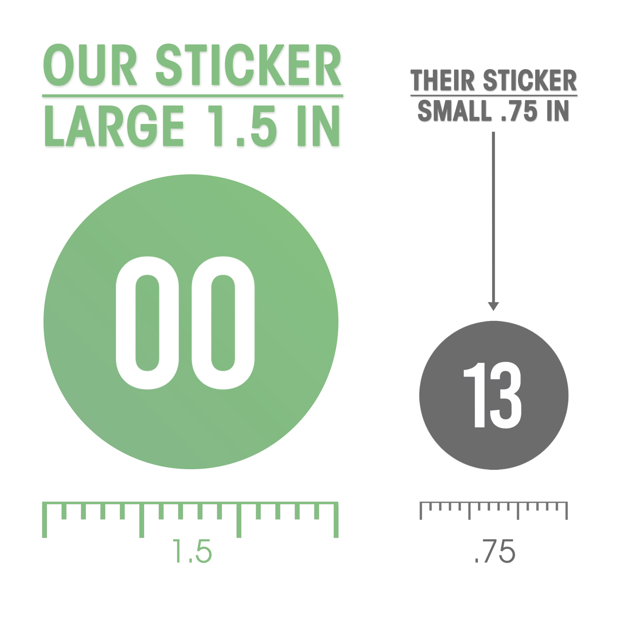 """miniature 15 - [101 Pcs] Colorful 0-100 Number Stickers for Teachers 1.5"""" Round Decal - Eucatus"""