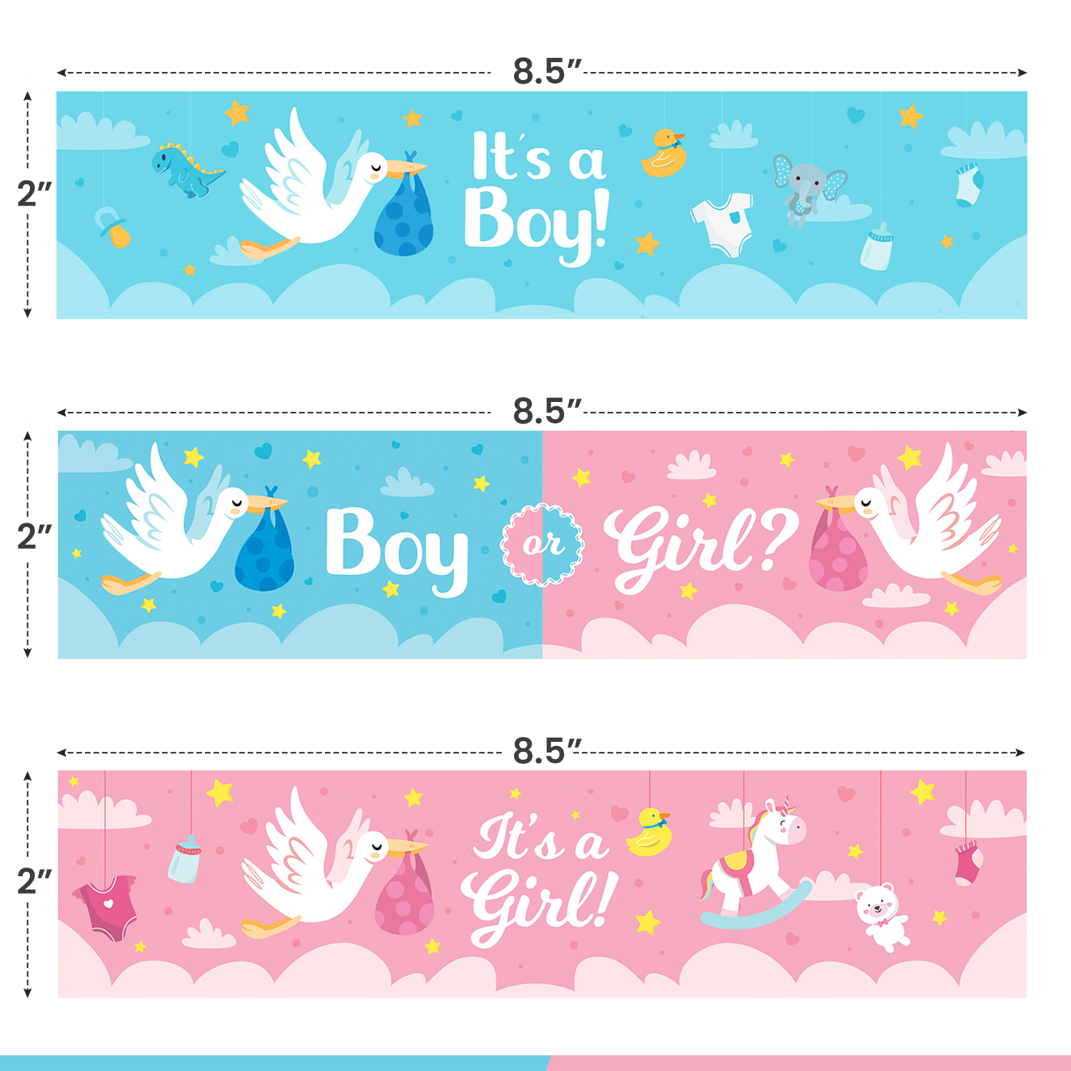 miniature 23 - [24-Ct.] Glossy Baby Shower Water Bottle Label Party Favors by Eucatus