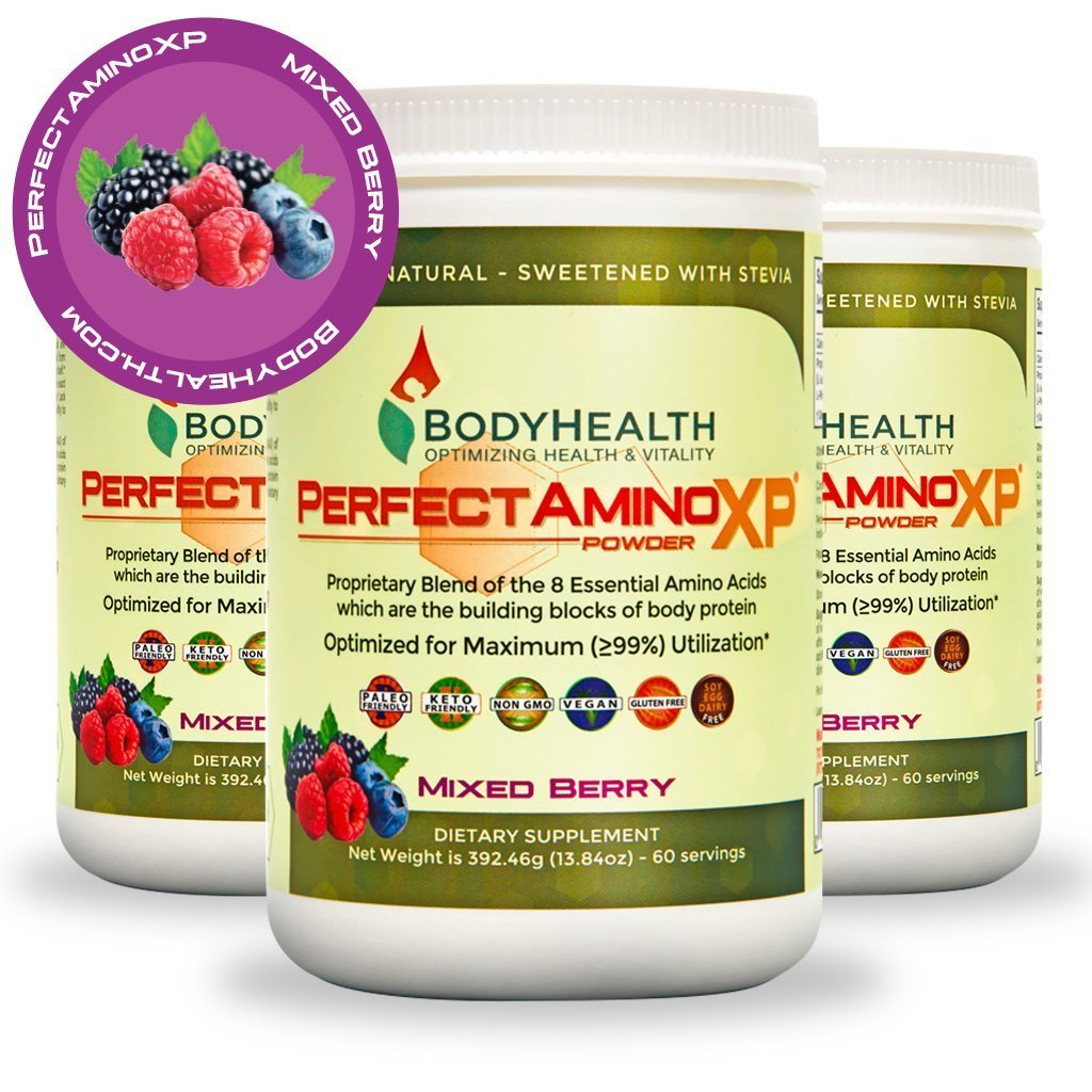 BodyHealth PerfectAmino XP Mixed Berry, Best Pre/Post Workout ...