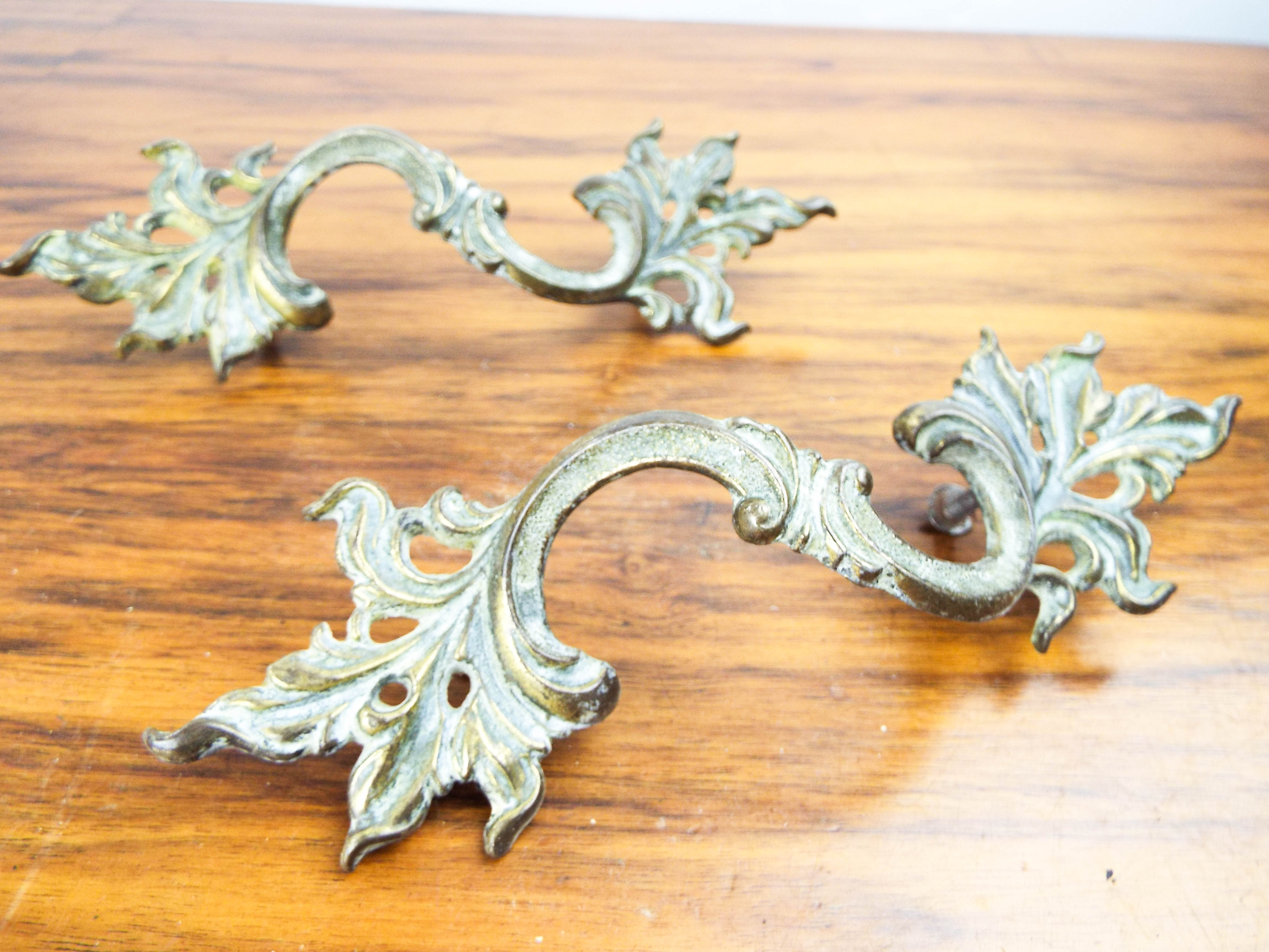 Tremendous French Metal Art Nouveau Brass Drawer Pull Cabinet Handle Decorative Hardware Ebay Home Interior And Landscaping Ymoonbapapsignezvosmurscom