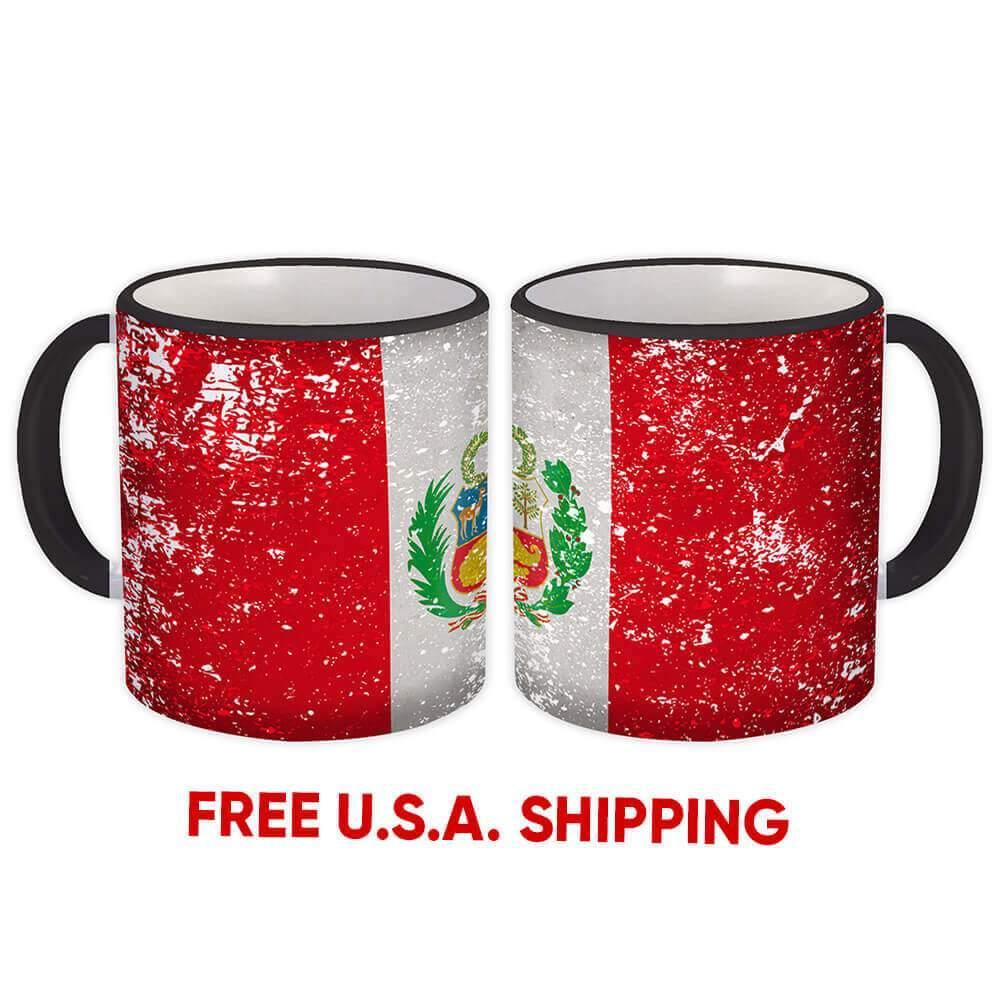 Puerto Rico Mug Gift Flag Retro Artistic Puerto Rican Expat Country