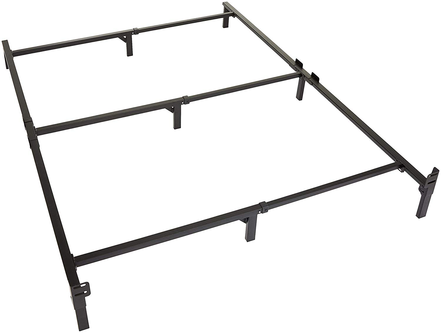 Amazon Basics 9 Legs Support Bed Frame for Box Spring and Mattress ...