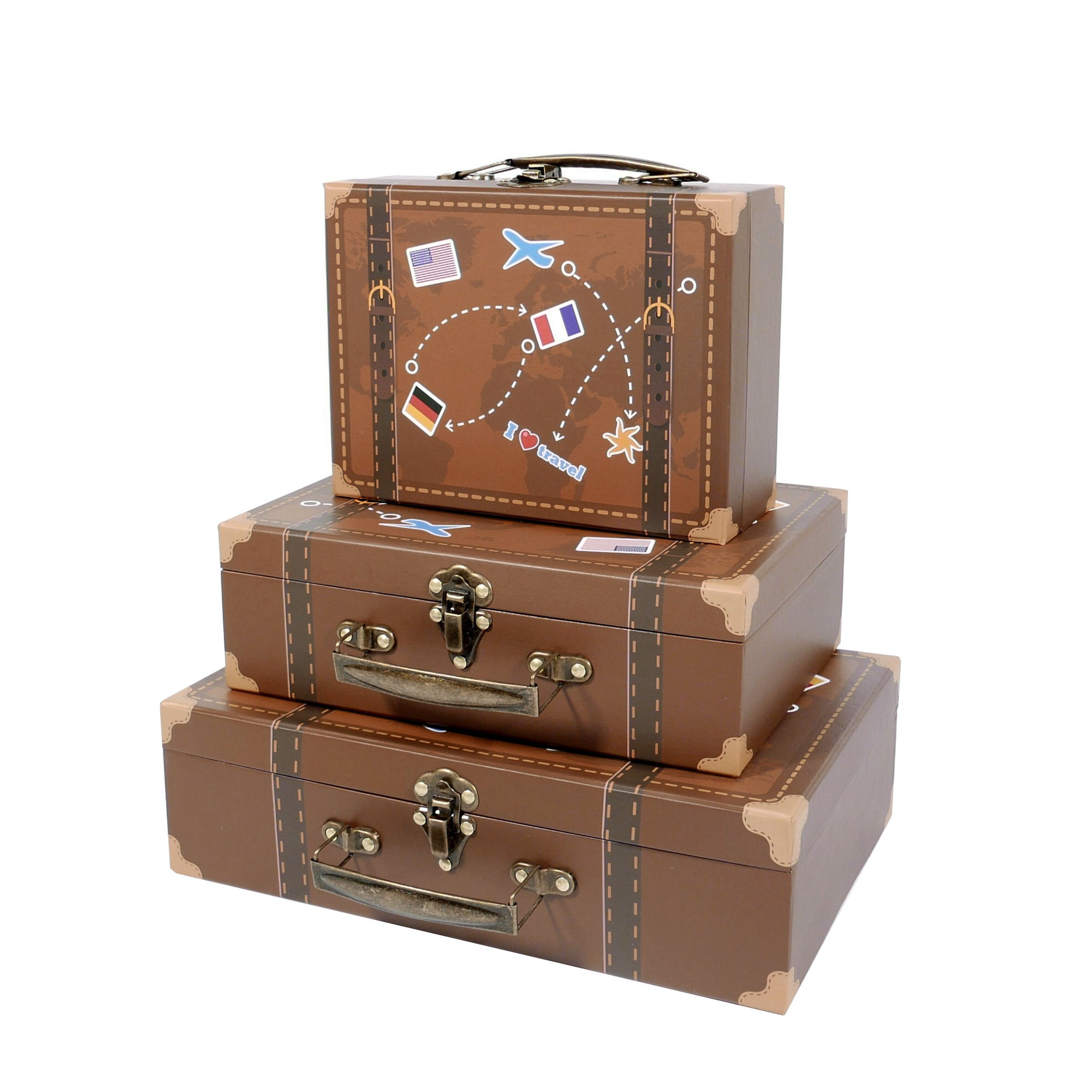 Soul & Lane Paperboard Suitcases  - Decorative Boxes
