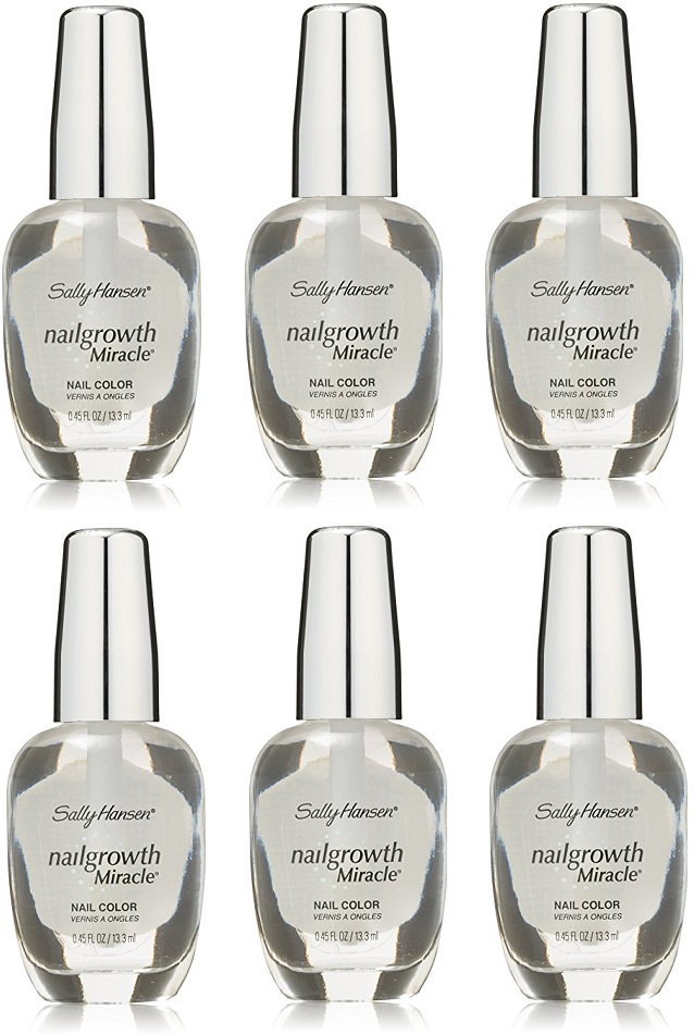 Sally Hansen Nail Growth Miracle Polish, 110 Clear CHOOSE YOUR PACK ...