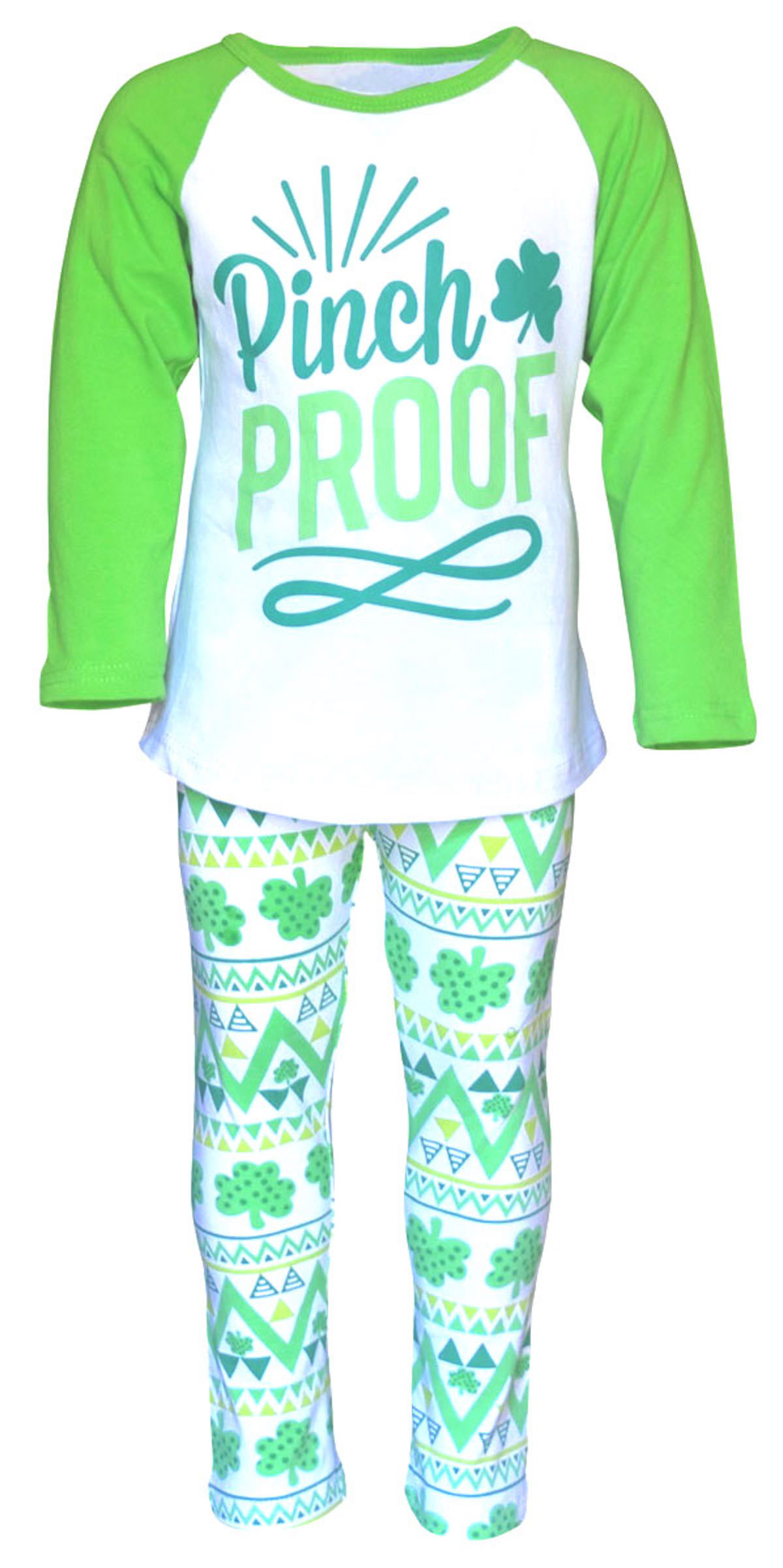 "Girls St Patrick's Day ""Pinch Proof"" Legging Set Boutique To"