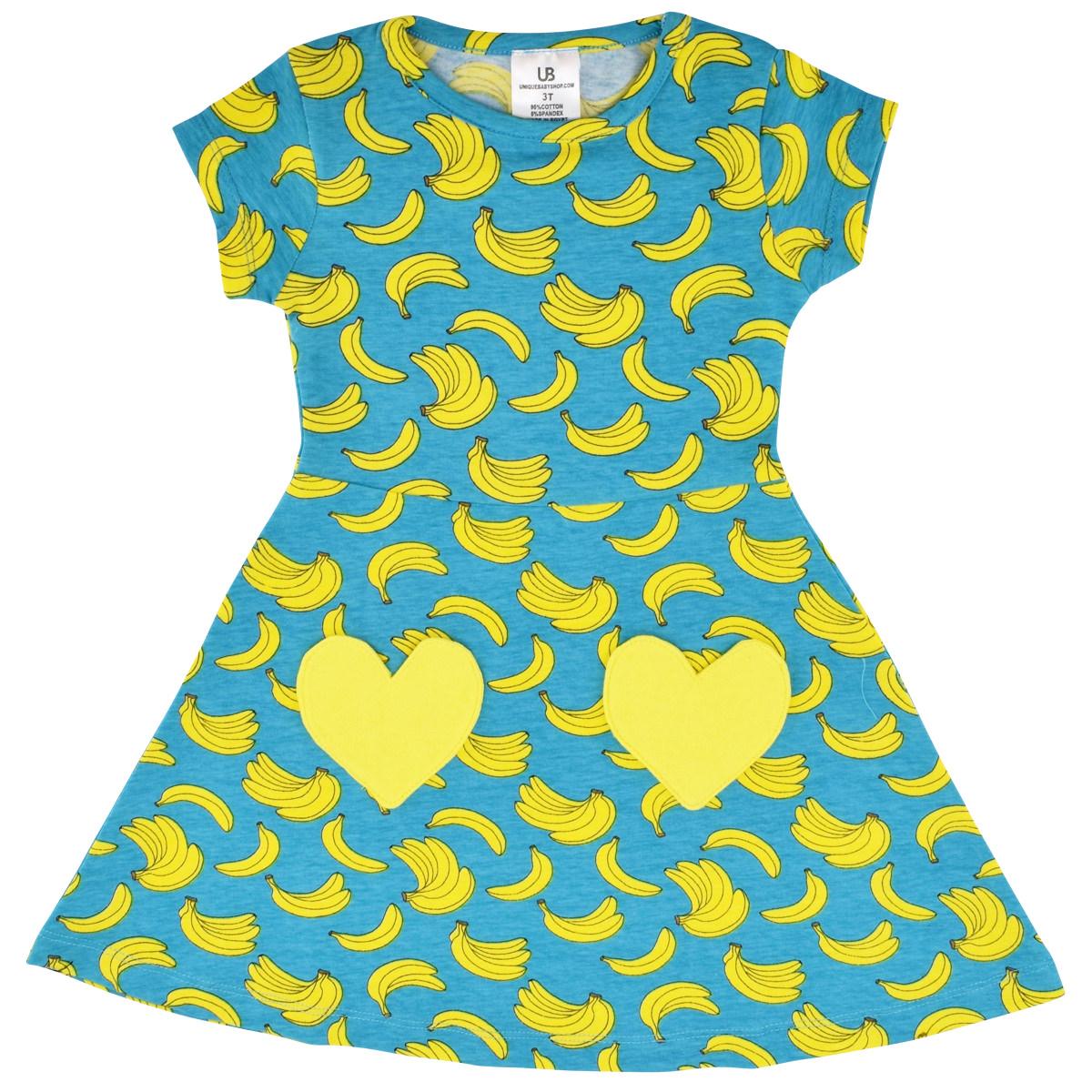27913d598 Unique Baby Girls Spring Summer Banana Dress Boutique Toddler Kids ...