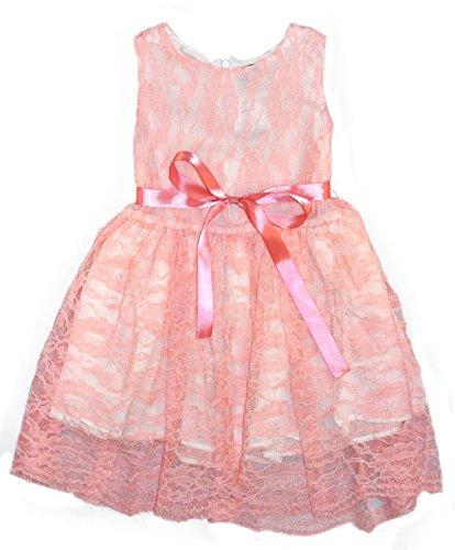 1b30a0941 Flower Girl Wedding Bridal Lace Dress Pink White Taupe Black 2 3 4 5 ...