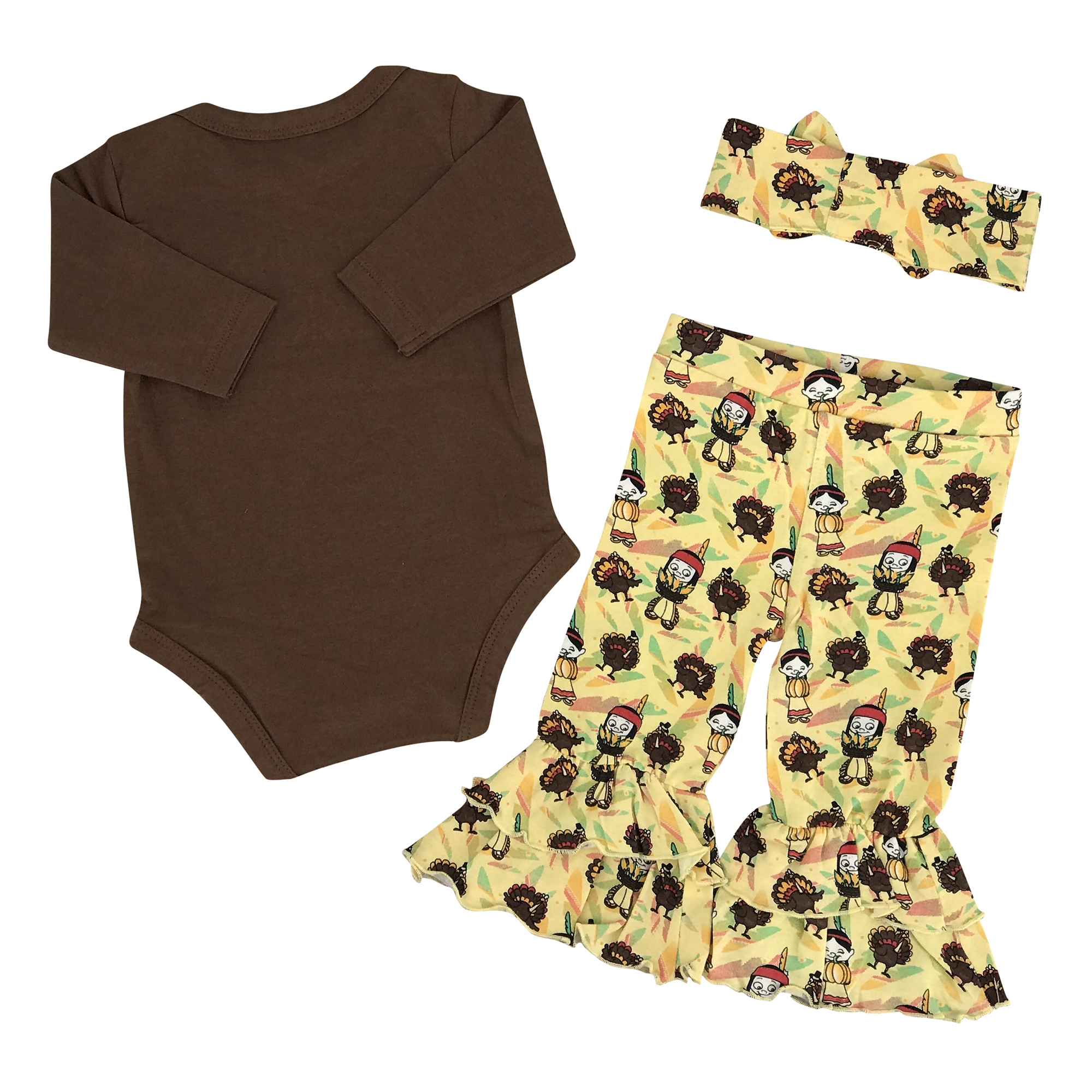 fc3087336 Girls Little Miss Thankful 1st Thanksgiving Outfit Boutique Toddler ...