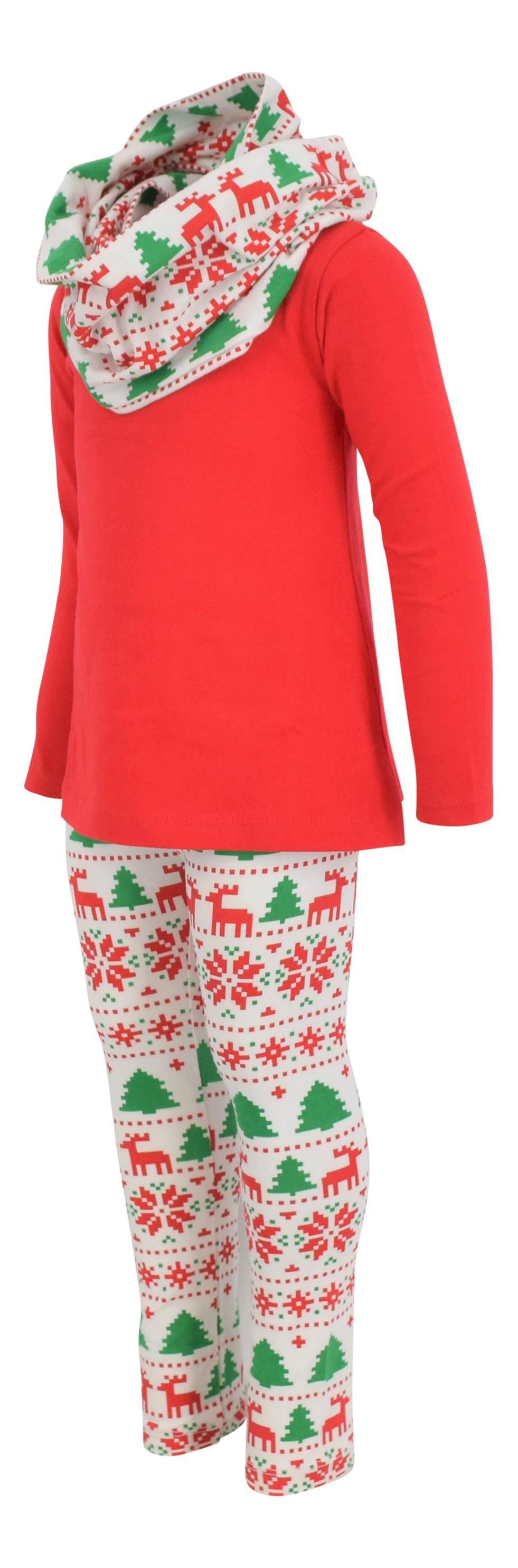 Girls 3 Piece Spring Winter Fox Legging Set  Boutique Outfit 2T 3t 4t 5 6 7 8