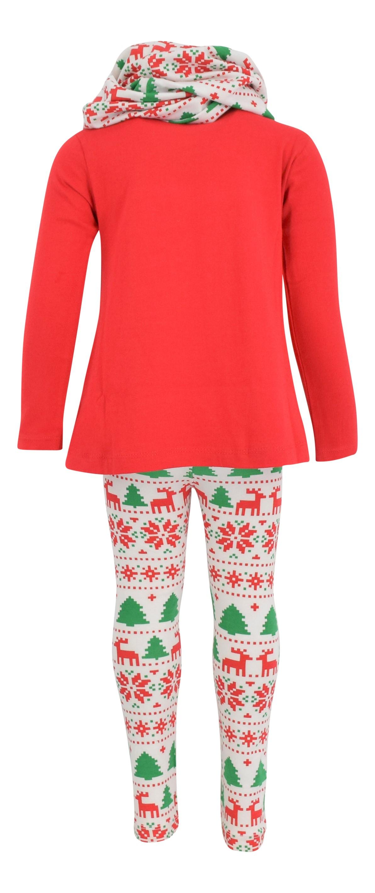 Girls Boutique 3 Piece Red Christmas Winter Legging Set ...