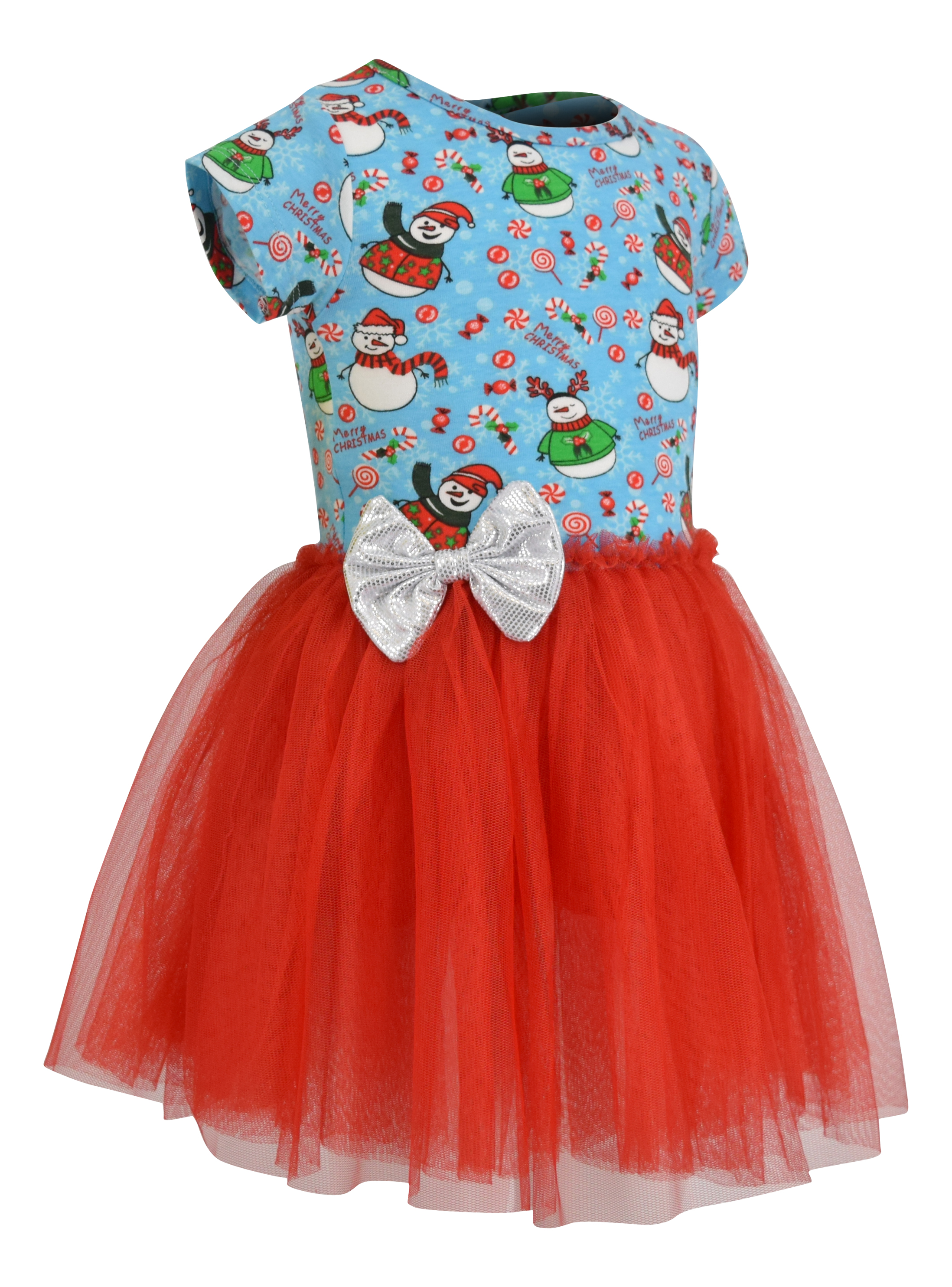 Girls Snowman Print Christmas Tutu Dress Boutique Toddler Kids