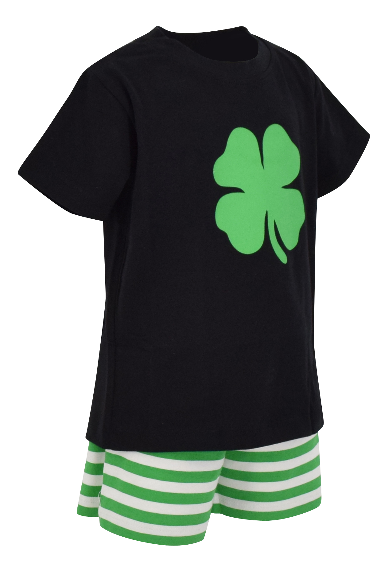 Boys-2-Piece-ST-Patricks-Day-Clover-Outfit-2t-3t-4t-5-6-7-8-Toddler-Kids-Clothes thumbnail 28