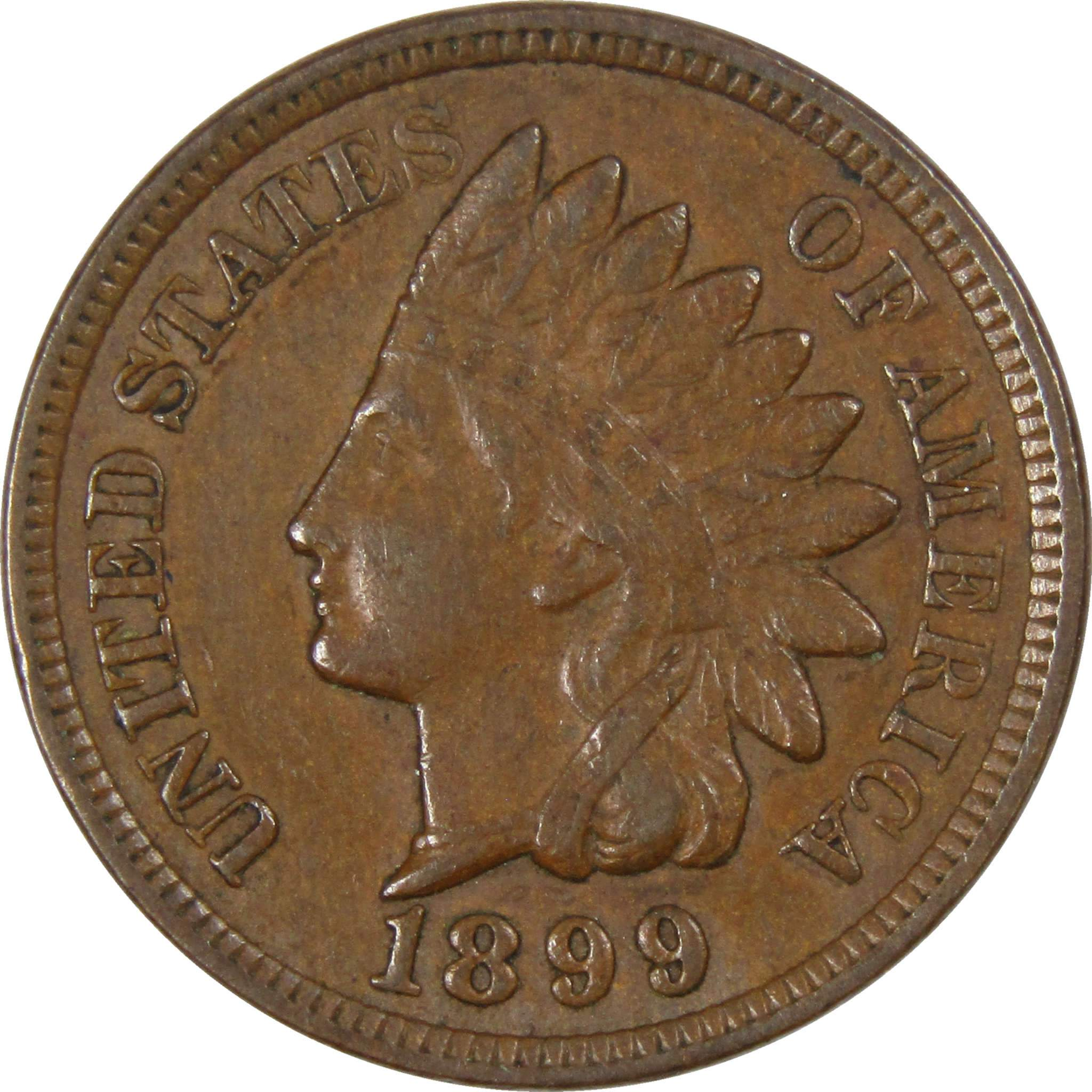 1899 indian head penny how much is it worth
