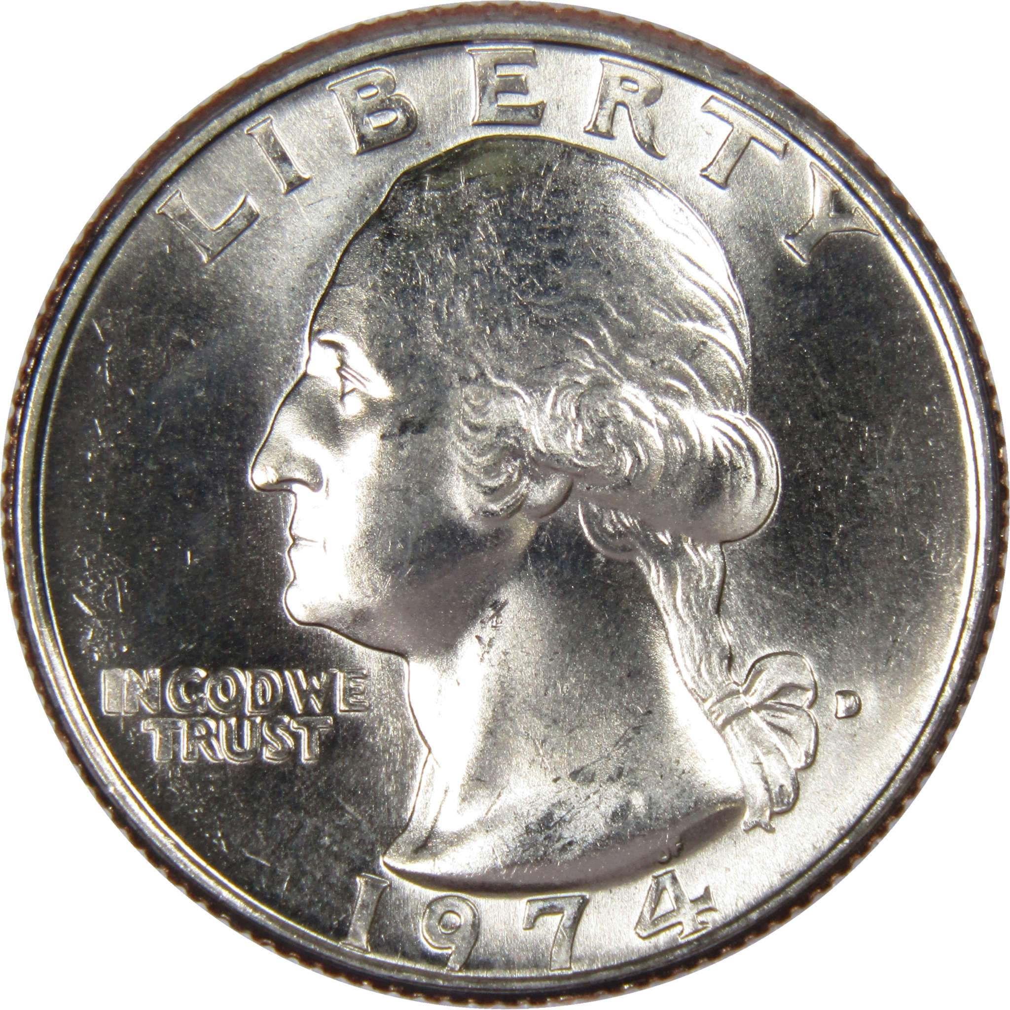 1974 D Washington Quarter BU US Coin