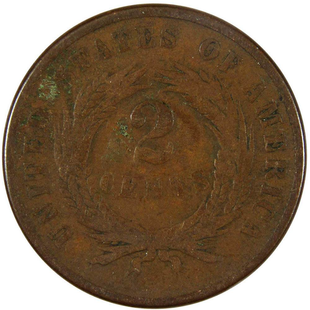 1866 2 cent coin value