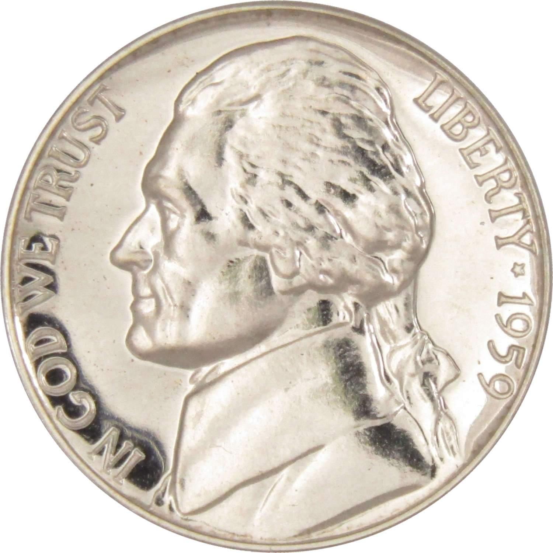 1955 5c Jefferson Nickel US Coin Choice Proof
