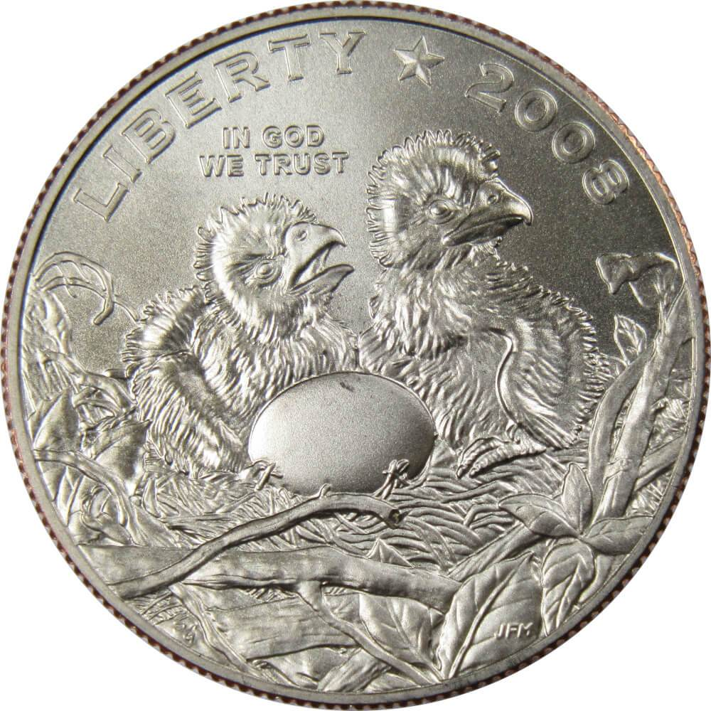 4 COIN SET 2008 BALD EAGLE COMMEMORATIVE COIN DOLLAR /& HALF DOLLAR UNC /& PROOF