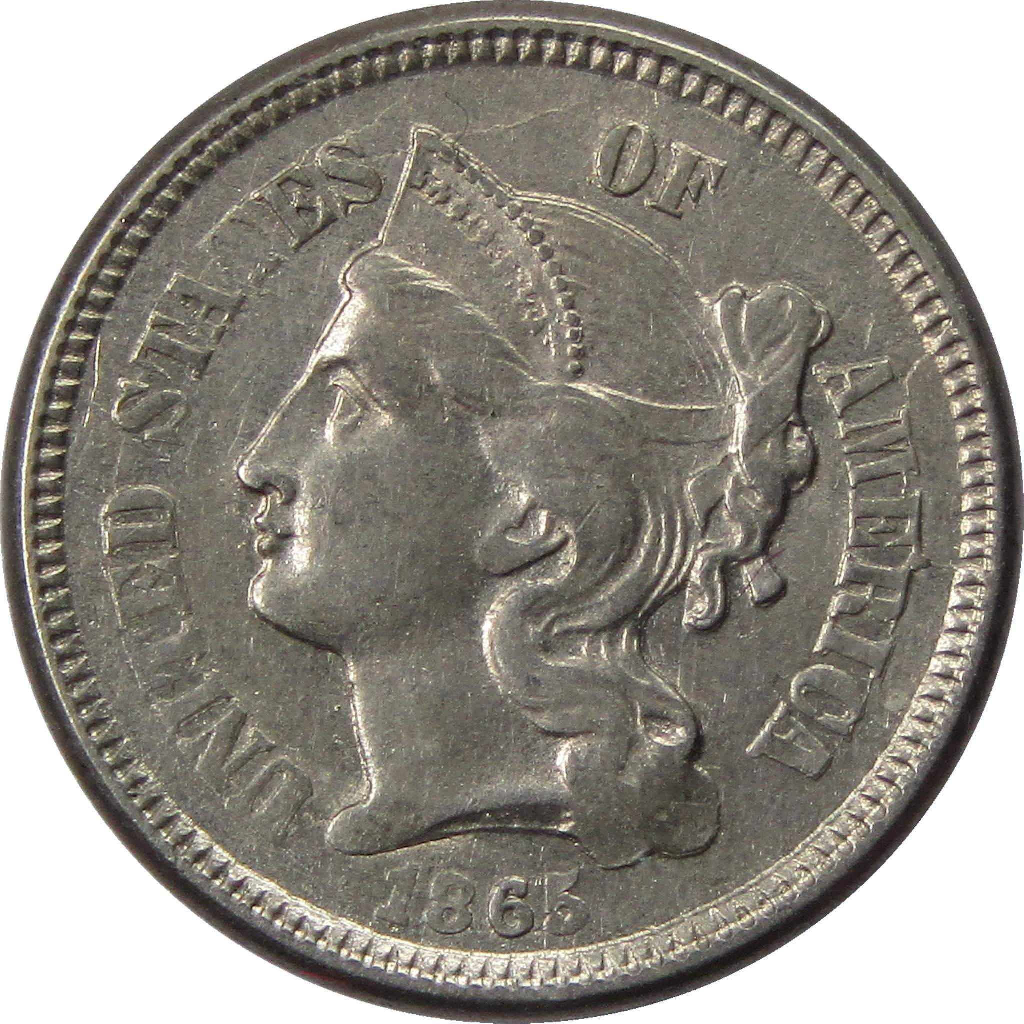 1865 3 cent coin