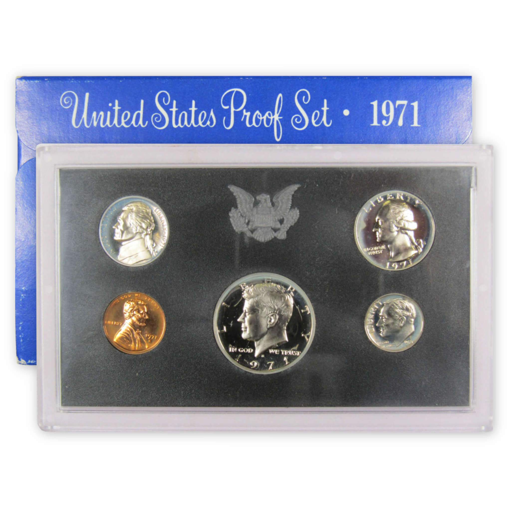 1971-S Proof Set United States US Mint Original Government Packaging Box