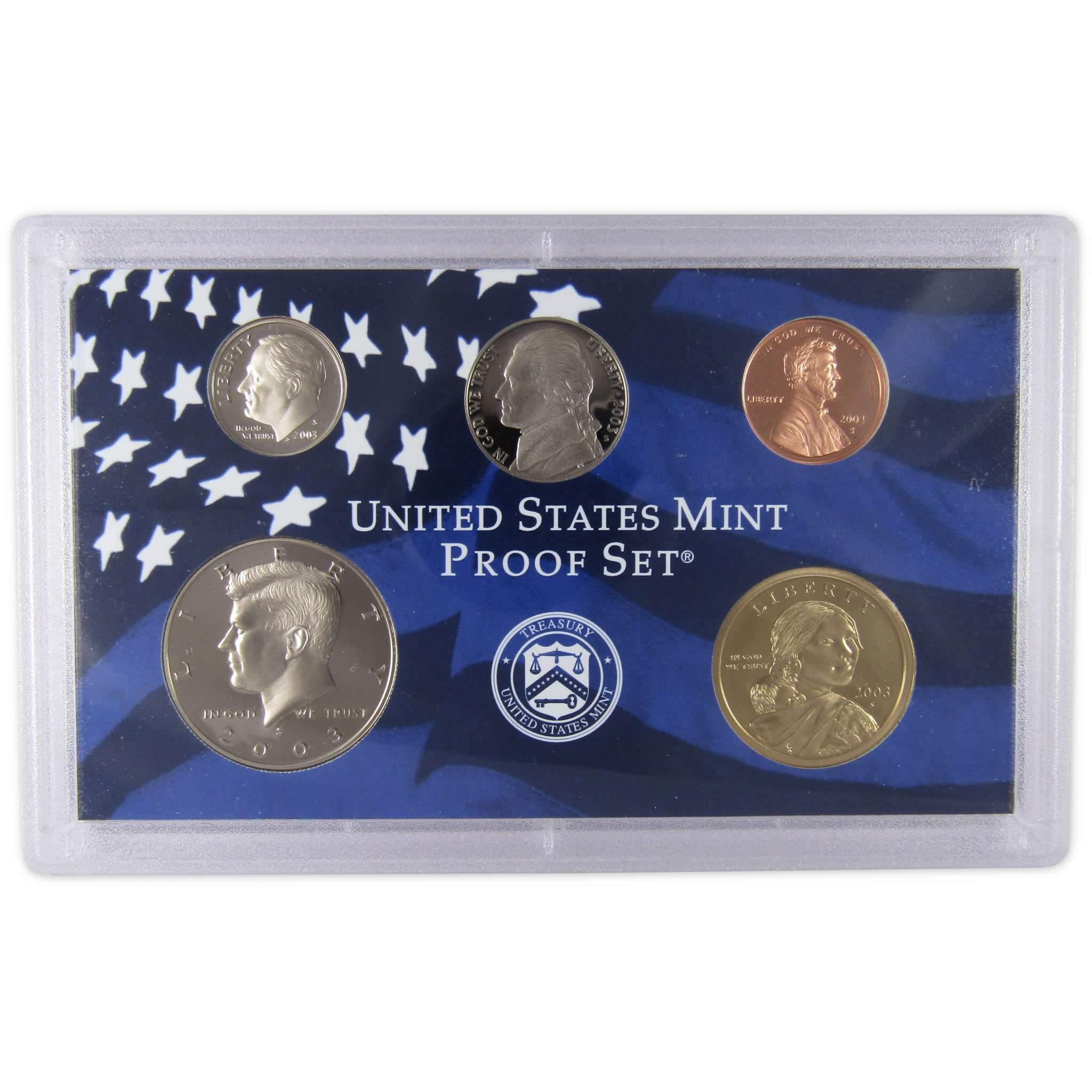 2003 US Mint Proof Set OGP packaging