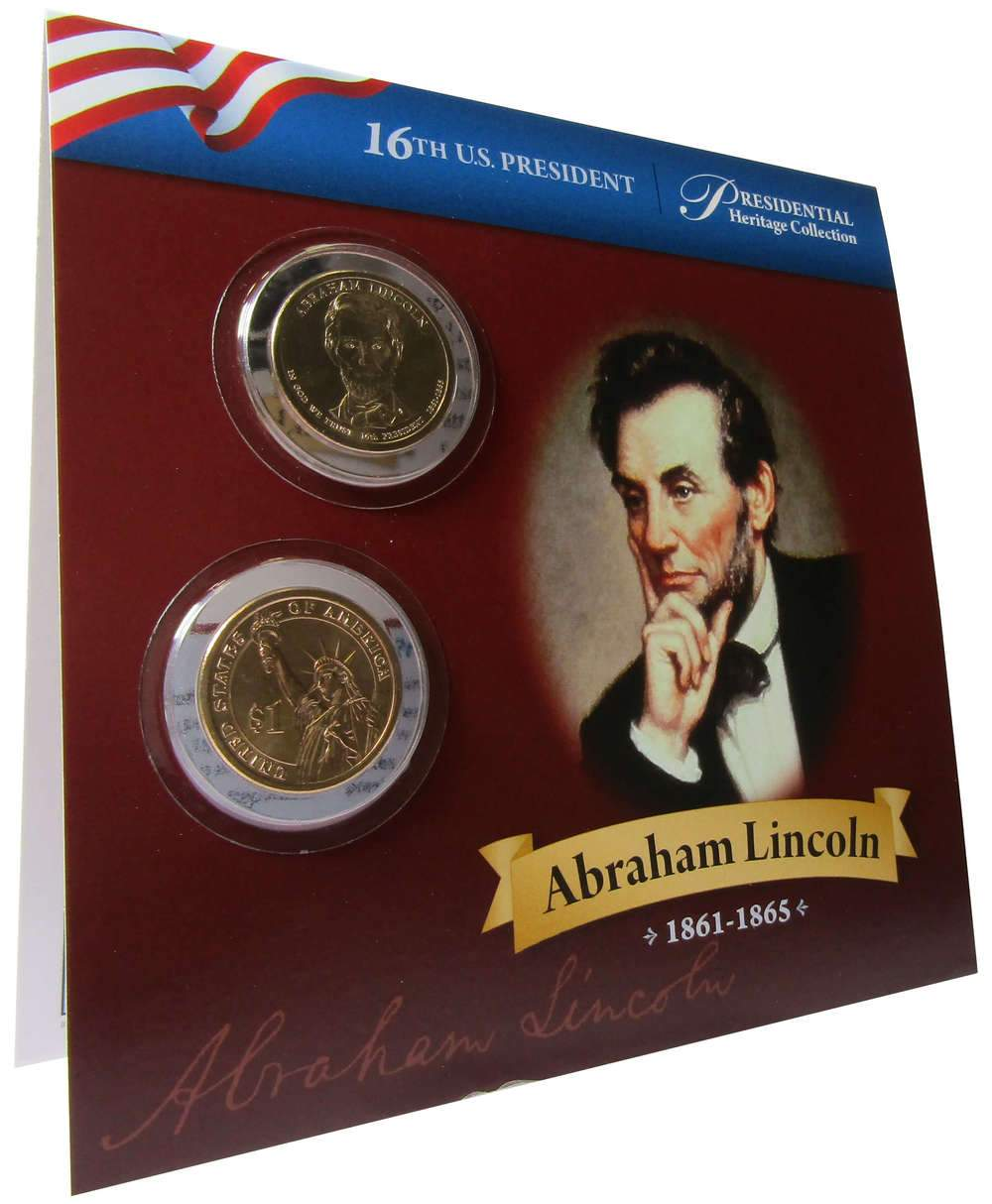 2010 ABRAHAM LINCOLN PRESIDENT DOLLAR P or D 1-COIN BRILLIANT UNCIRCULATED