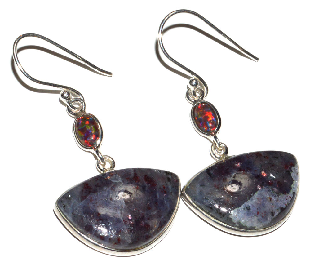 Iolite Earrings in Sterling Silver-Gemstone Earrings-Silver Earrings-Gemstone jewelry-Women Earrings-Dangle and Drop Earrings-Special Gift