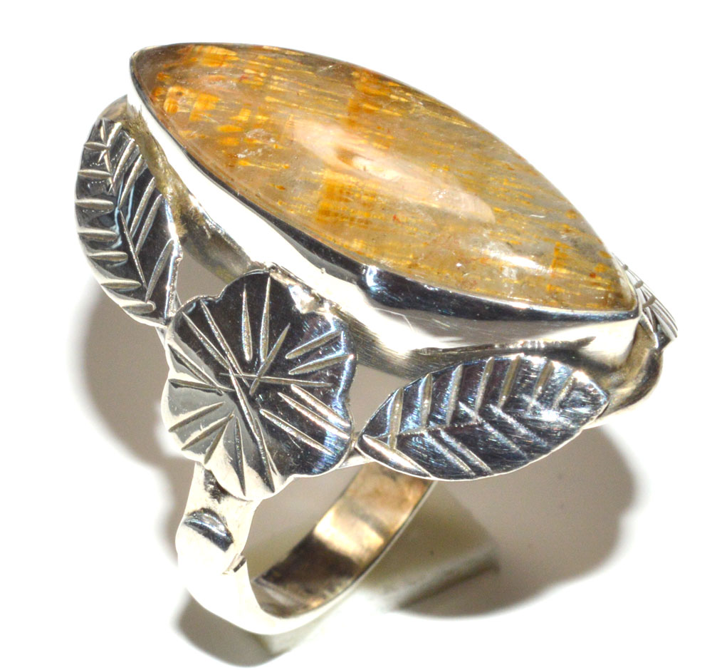 CACOXENITE 925 STERLING SILVER RING