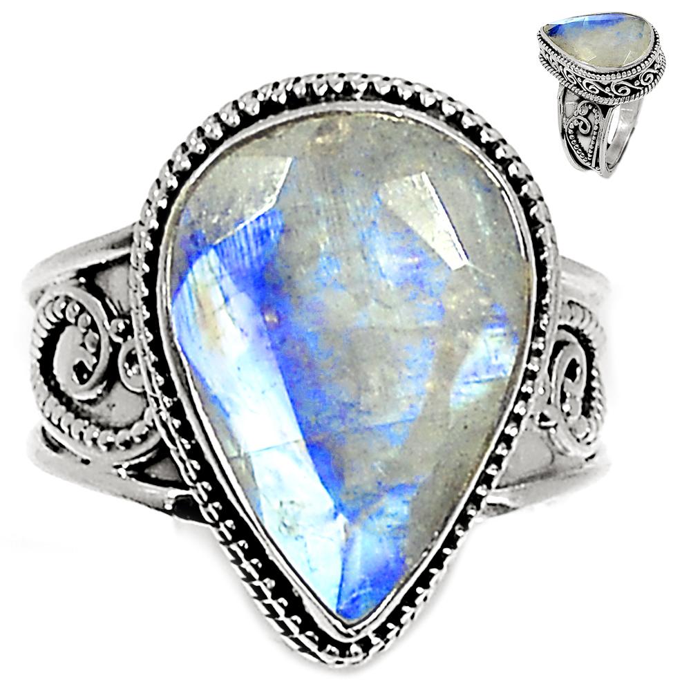925 Sterling Silver Gemstone Ring Handmade Jewelry SZ 5 6 7 8 9 10 11 12 13 Ys0