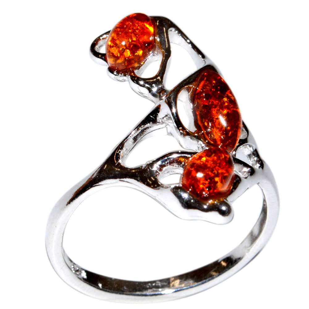 4-03g-Authentic-Baltic-Amber-925-Sterling-Silver-Ring-Jewelry-N-A7372A thumbnail 13