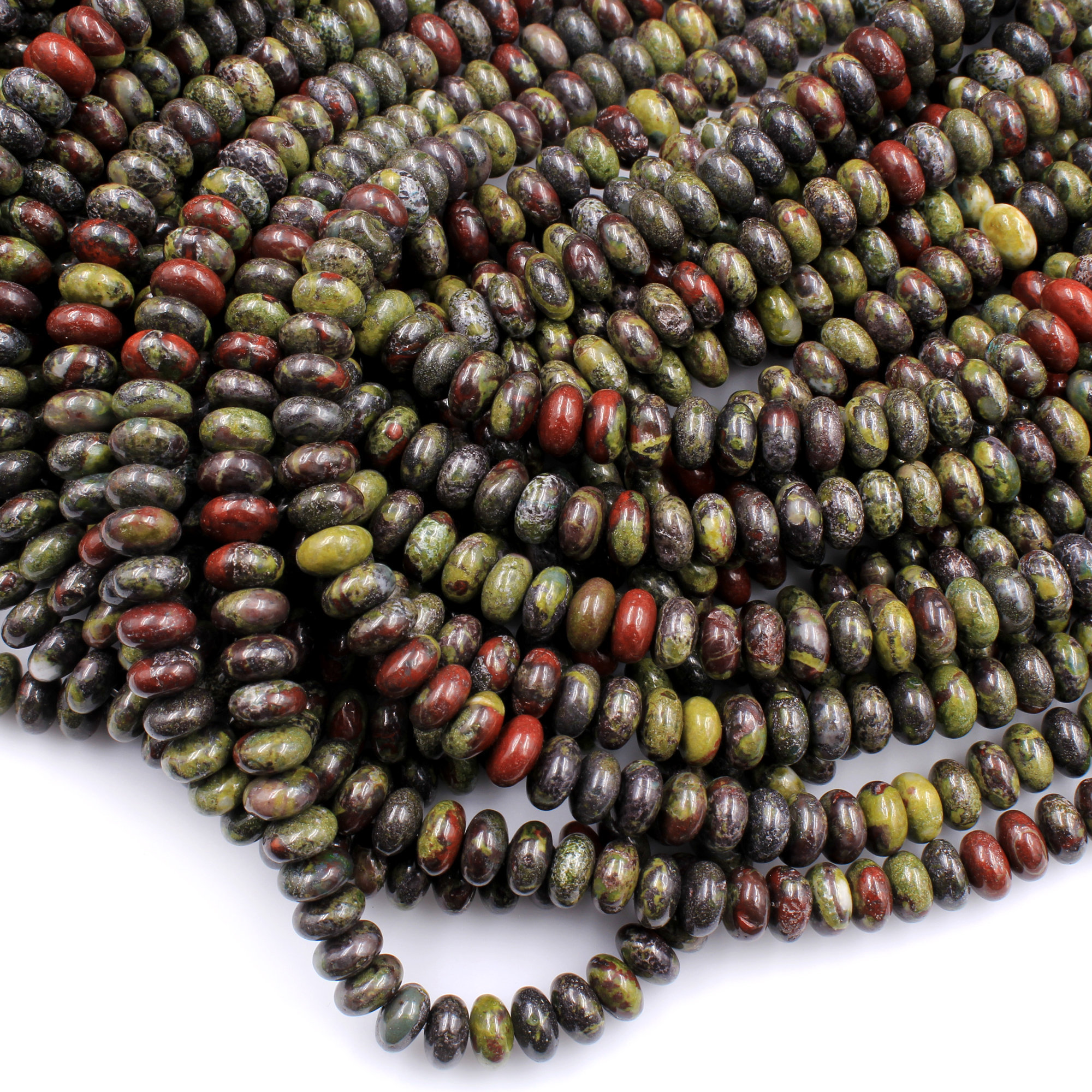 "16/"" Strand DRAGON BLOOD JASPER 12mm Round Beads"
