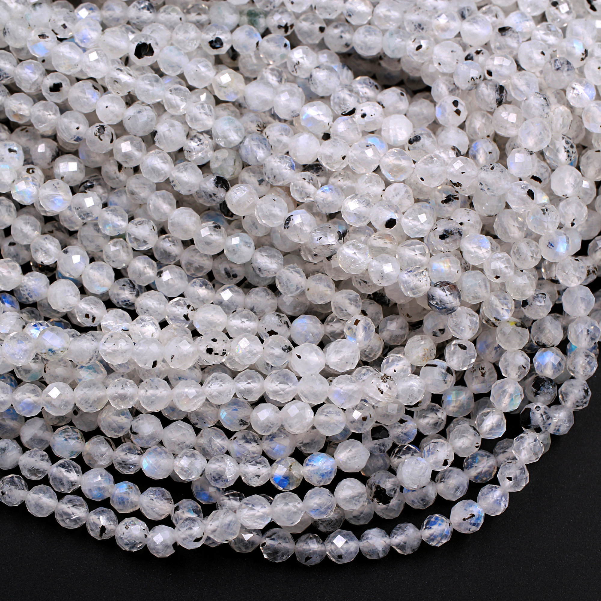 250pcs x 4mm Clear  Faceted Round Beads