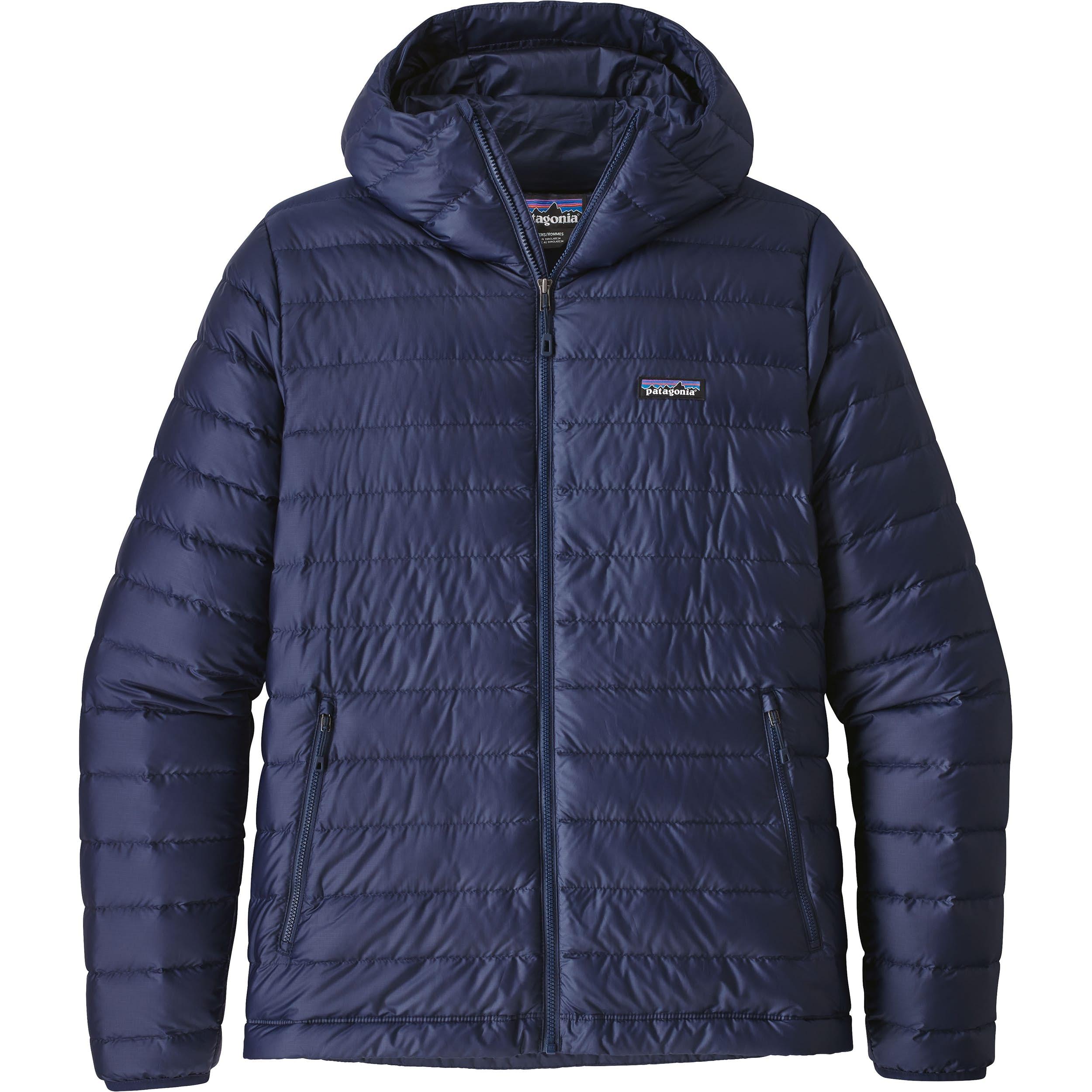 Patagonia Men's Down Sweater Hoody Jacket - Classic Navy ...