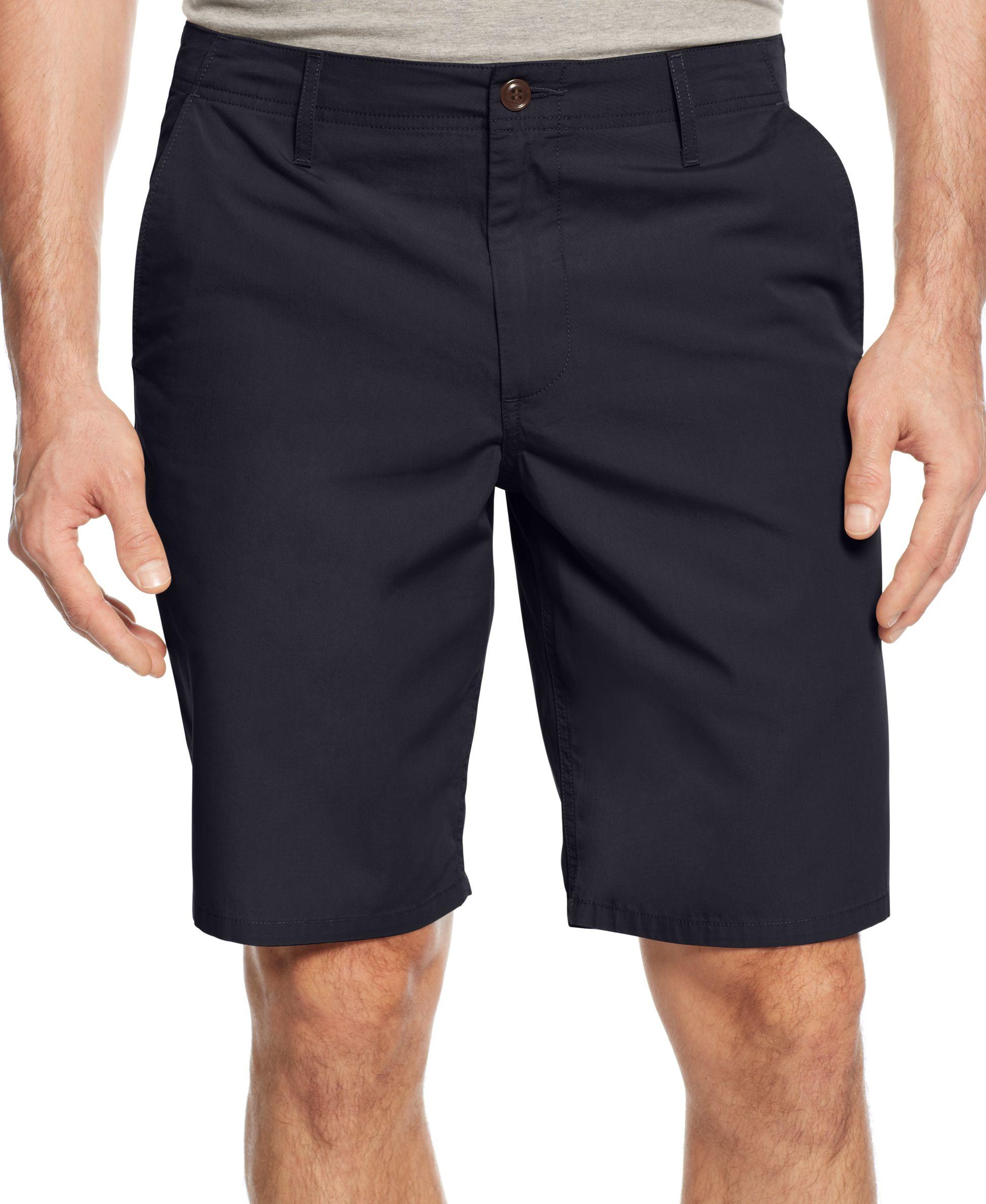 f7845aace5 DOCKERS Straight Fit Poplin Shorts 33 Flat Front Navy Blue | eBay