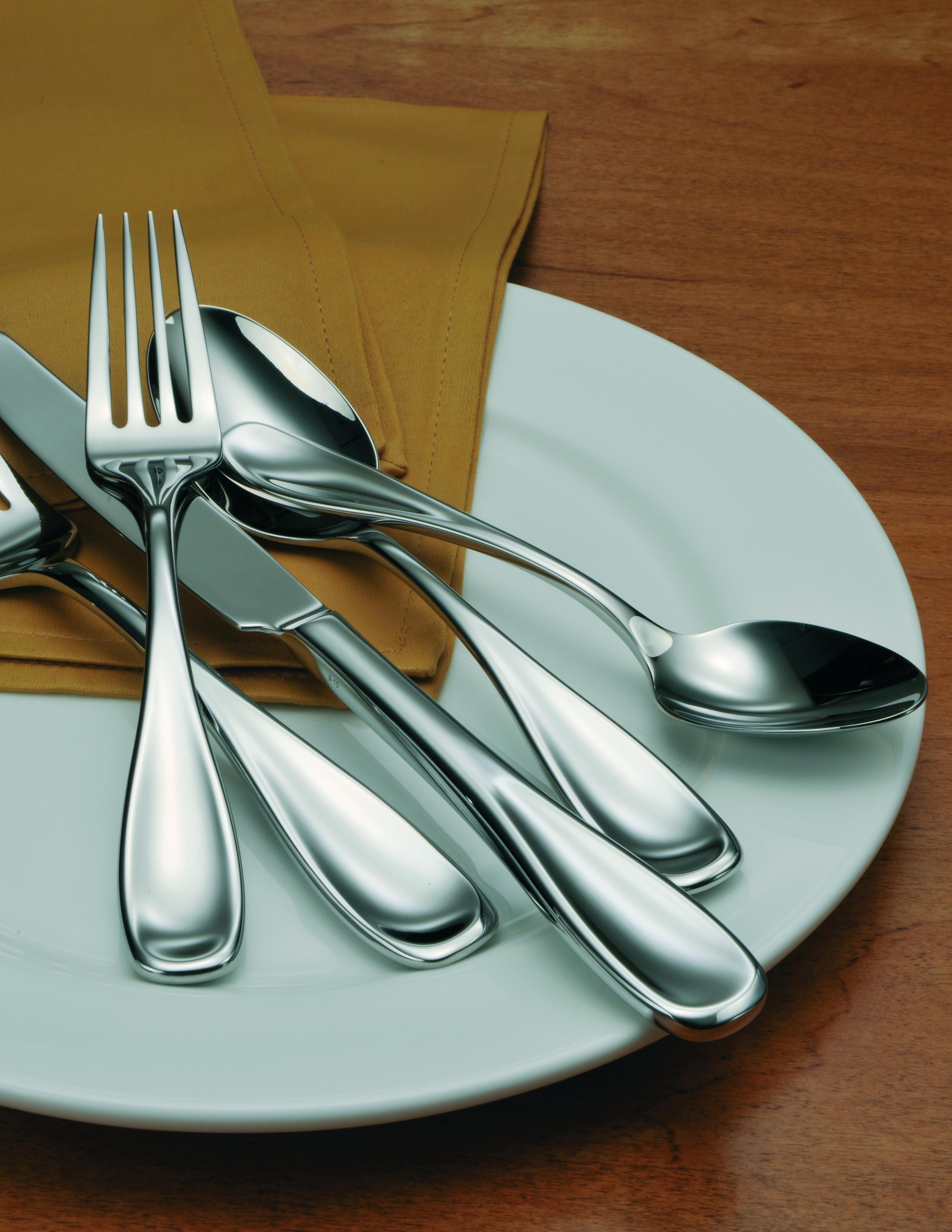 Oneida 18 0 Stainless Steel Voss Ii Dinner Forks Set Of 12 Ebay