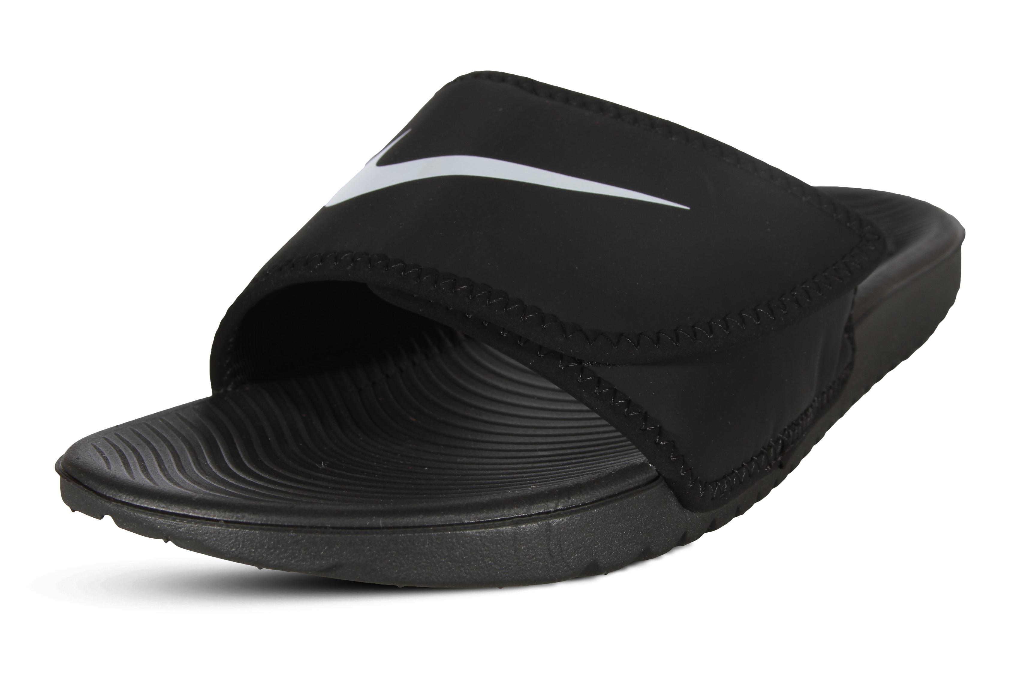 aa9ea57b8f1 Nike Kawa Adjust Slide Boys  Grade School Black white 19344001 6