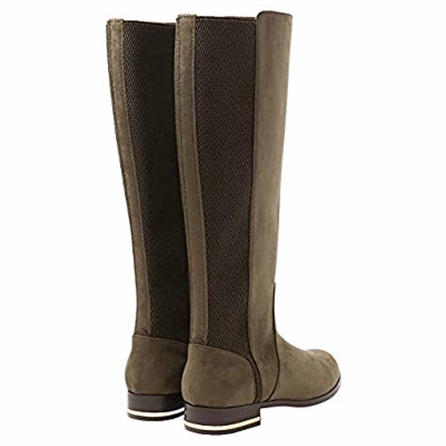 Kensie Women/'s Tall Knee High Suede Boots Tayson Taupe  Sz 7 9.5 10