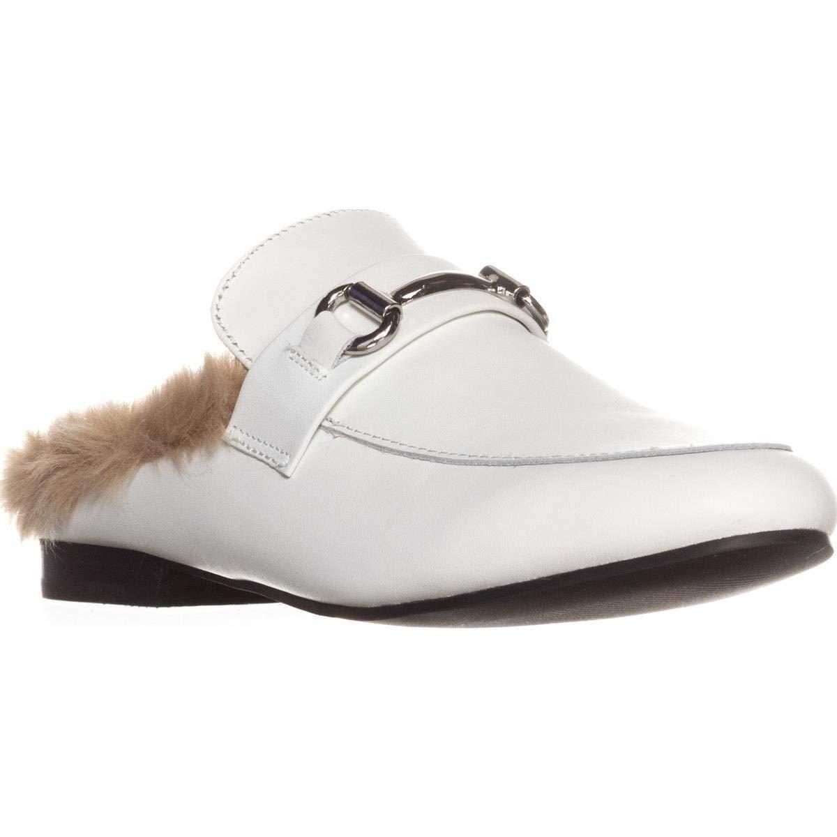 3ec72c2678e Steve Madden Jill Flat Slip-on Mules White Leather 8.5 US