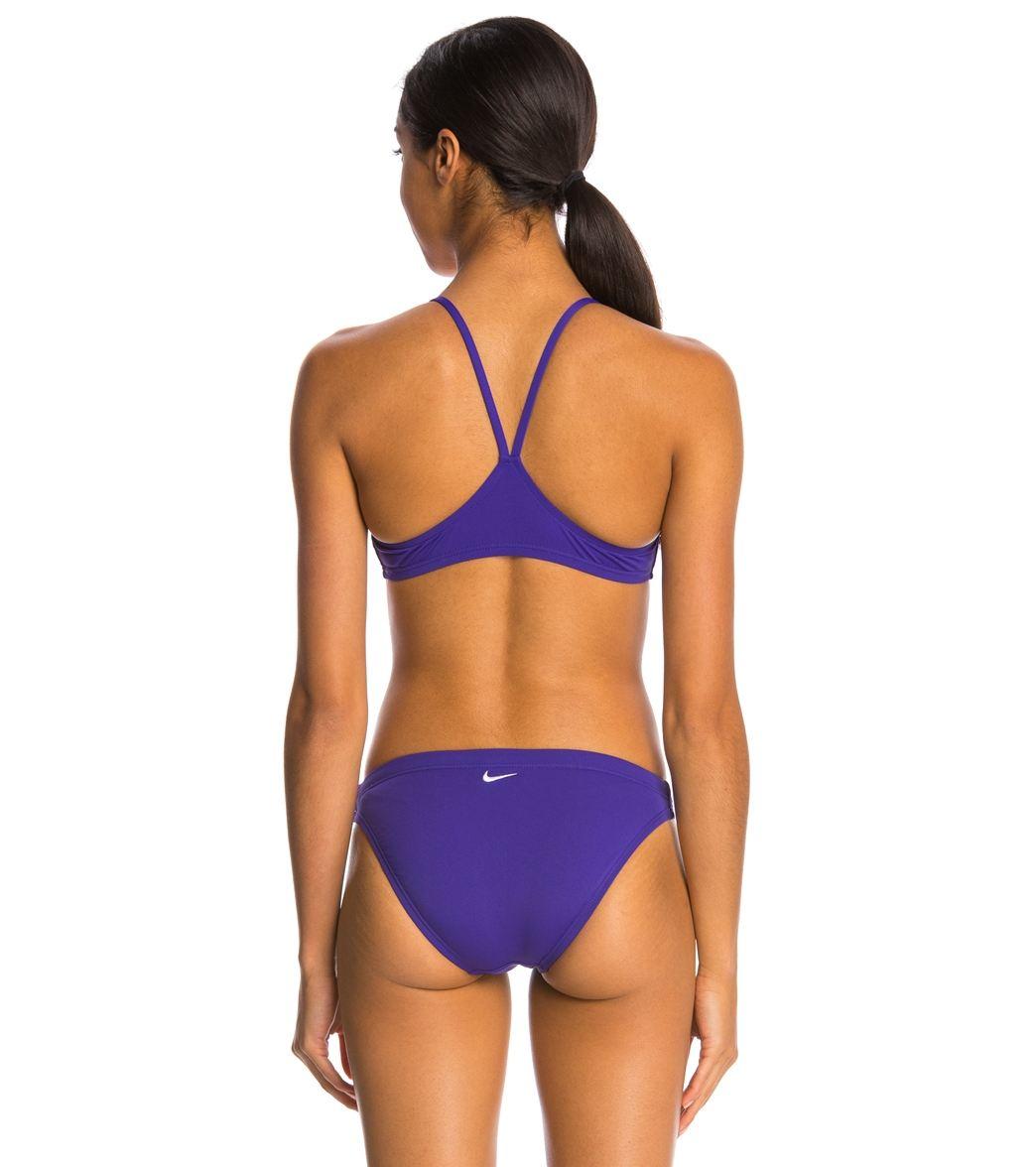 b7121c792 Nike Swim Womens Poly Core Solids Sport 2 Piece Swimsuit | eBay