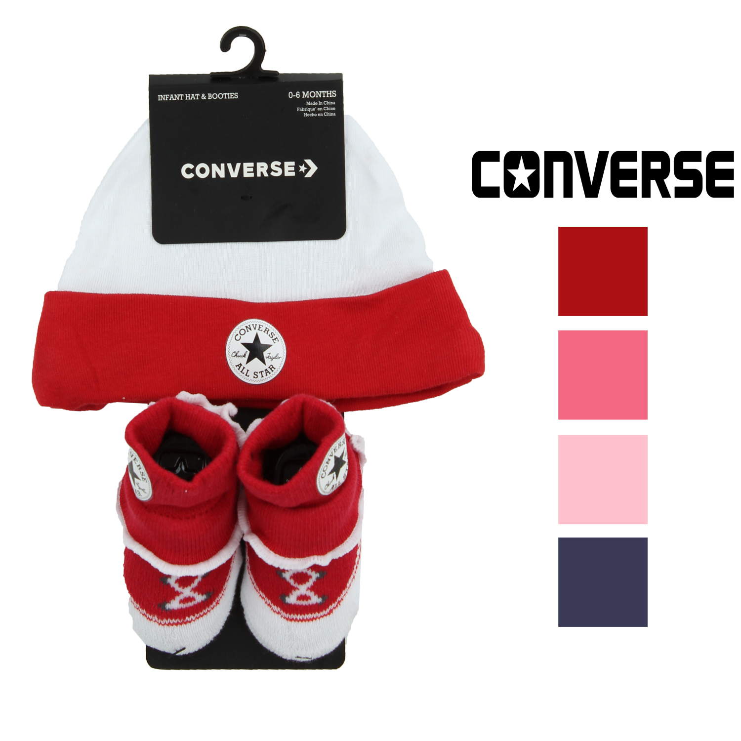 Converse Infant Hat and Frilly Bootie