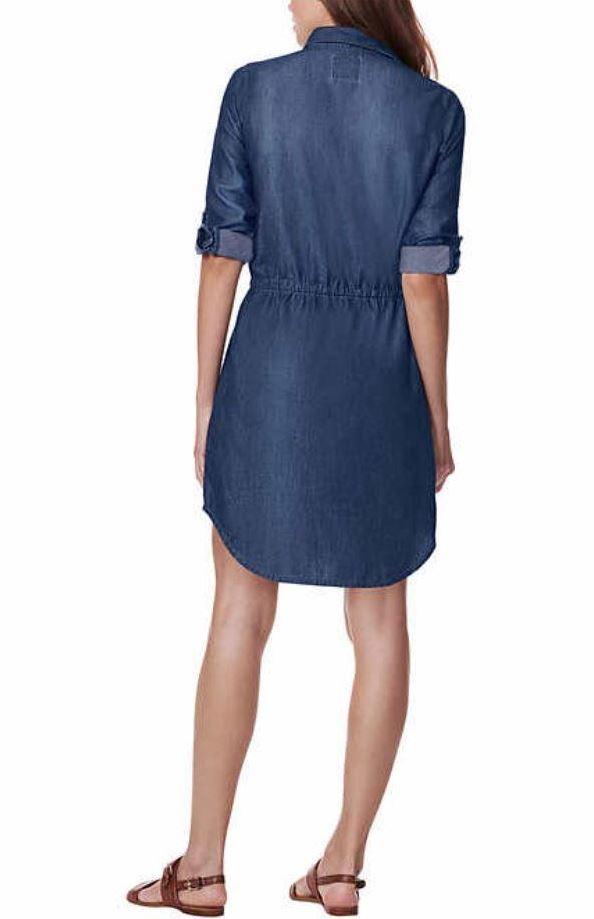 180842c4925 Gloria-Vanderbilt-Womens-Ashleigh-Drawstring-Waist-Denim-Dress thumbnail