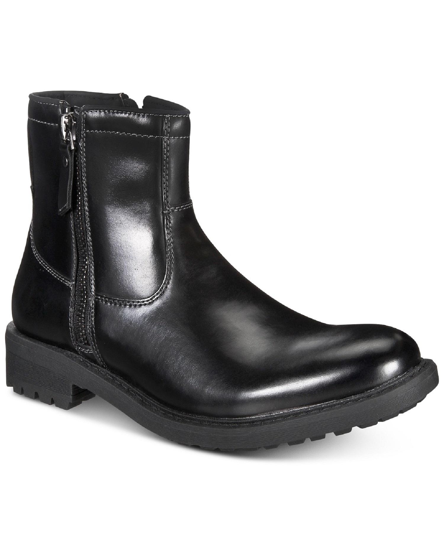 f902780af92 Kenneth Cole Unlisted C Roam Mens Black Casual Dress ZIPPER BOOTS ...