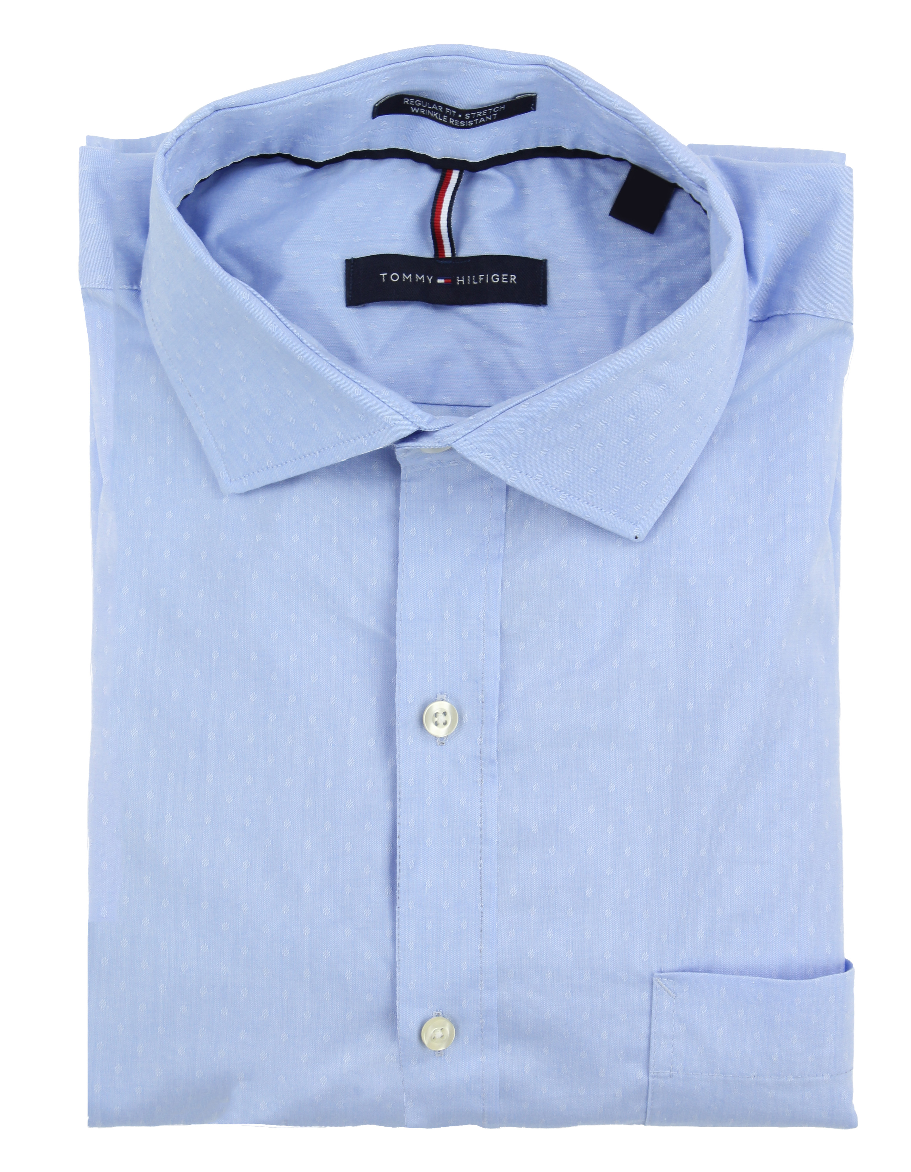 Tommy-Hilfiger-Mens-Long-Sleeve-Regular-Fit-Dress-Shirt miniature 3