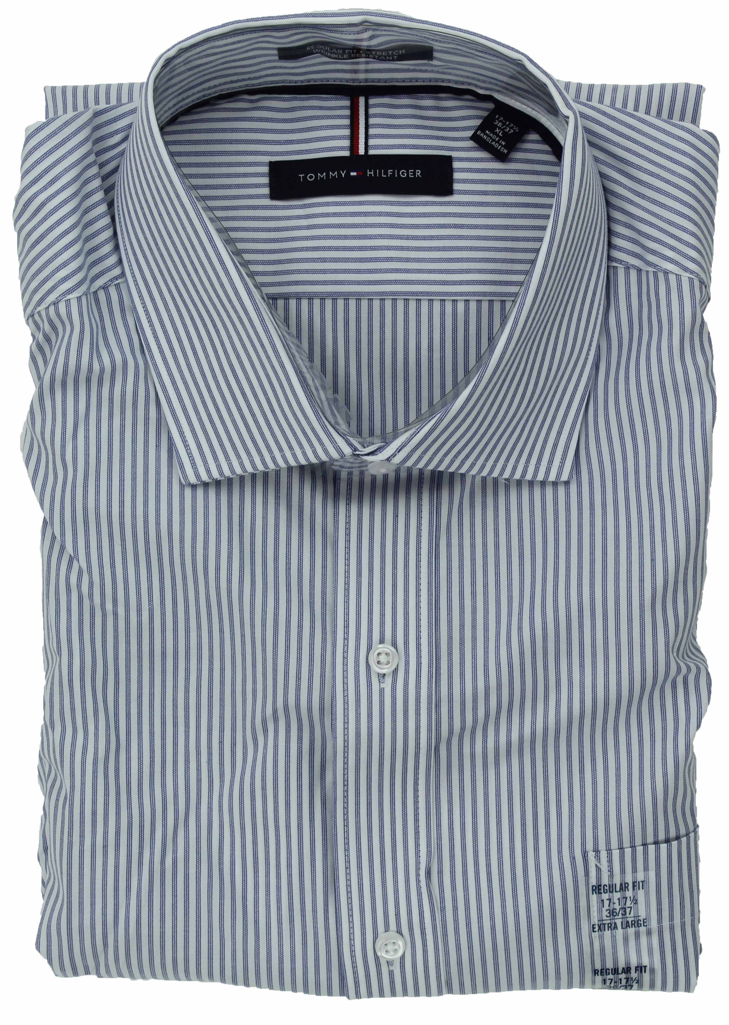 Tommy-Hilfiger-Mens-Long-Sleeve-Regular-Fit-Dress-Shirt miniature 32